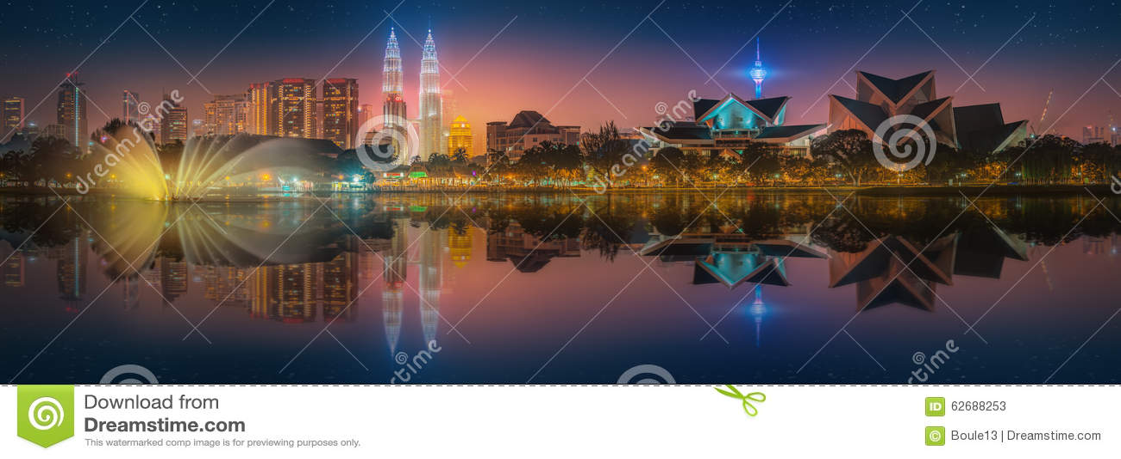 吉隆坡地平线美好的都市风景