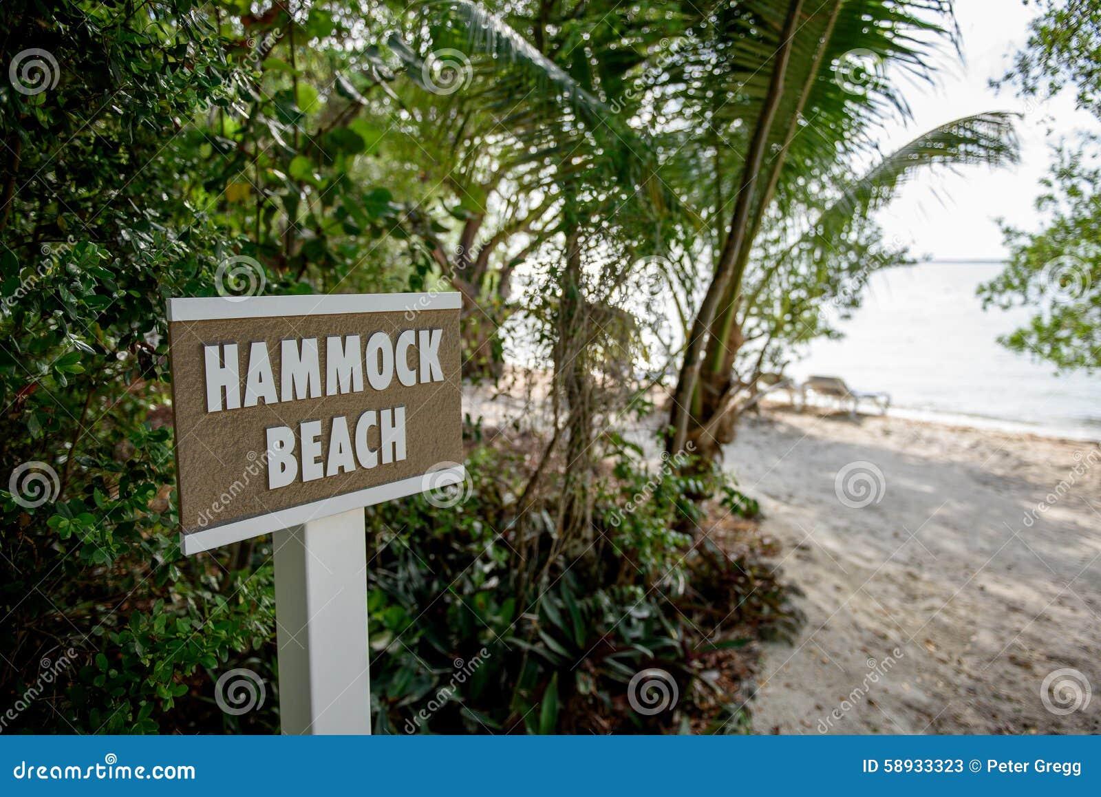吊床海滩标志