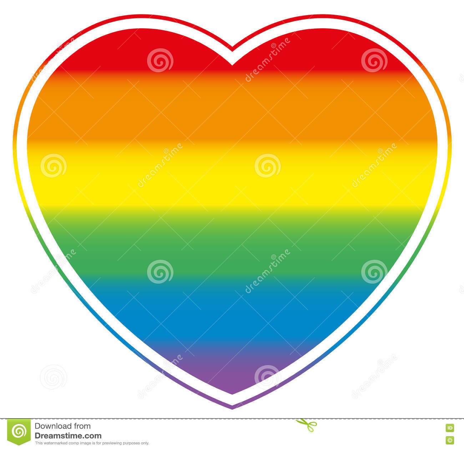 同性恋自豪日心脏彩虹色的爱