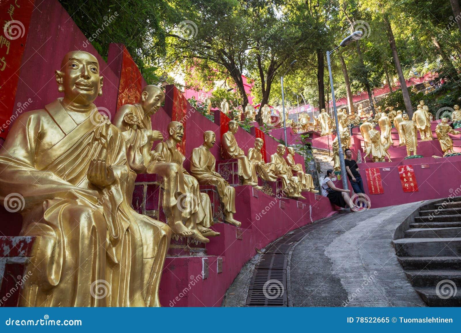 向万佛寺的道路在香港