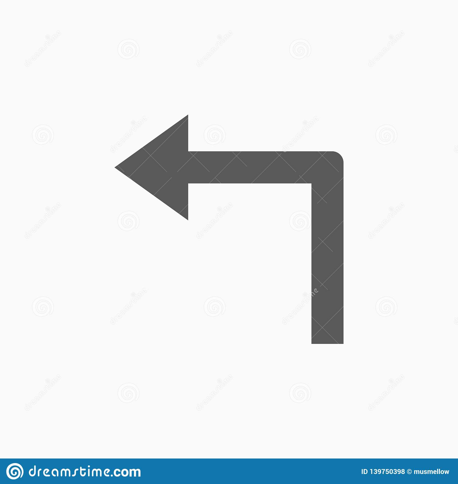 向左转象,箭头,路标,路标