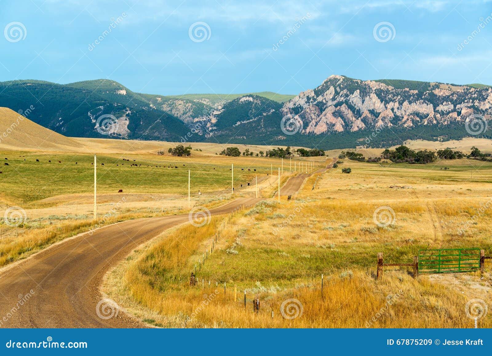 向比格霍恩山的土路