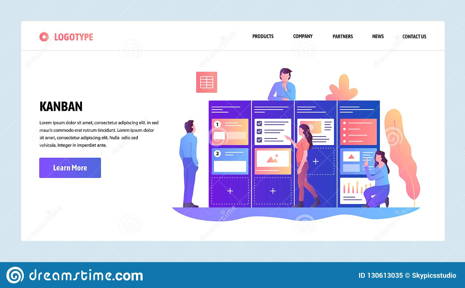 向量网站设计模板 敏捷项目管理和混乱任务委员会 敏捷软件开发和Kanban