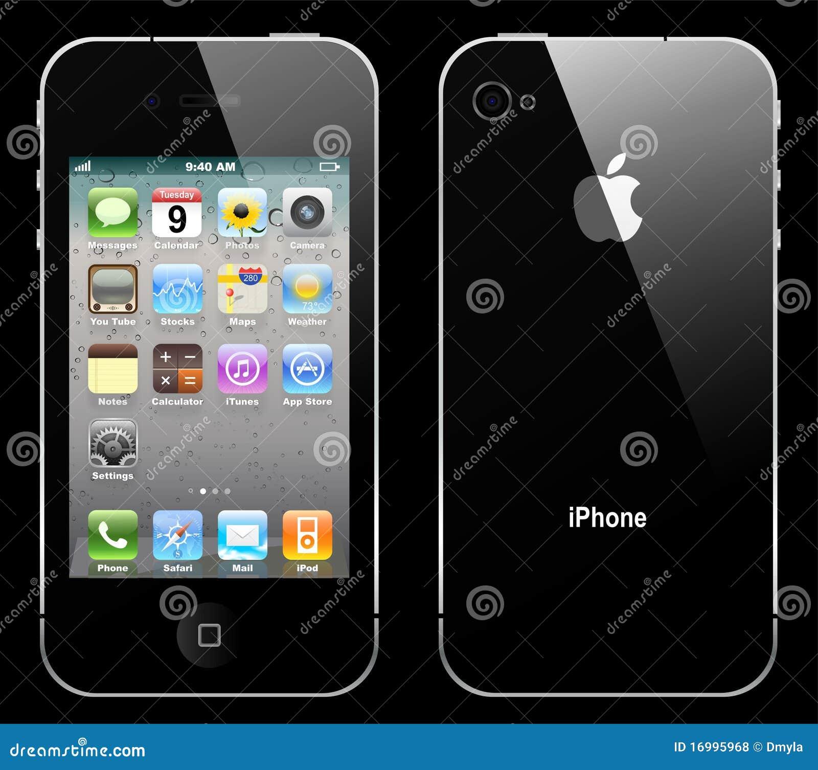 向量iphone 4