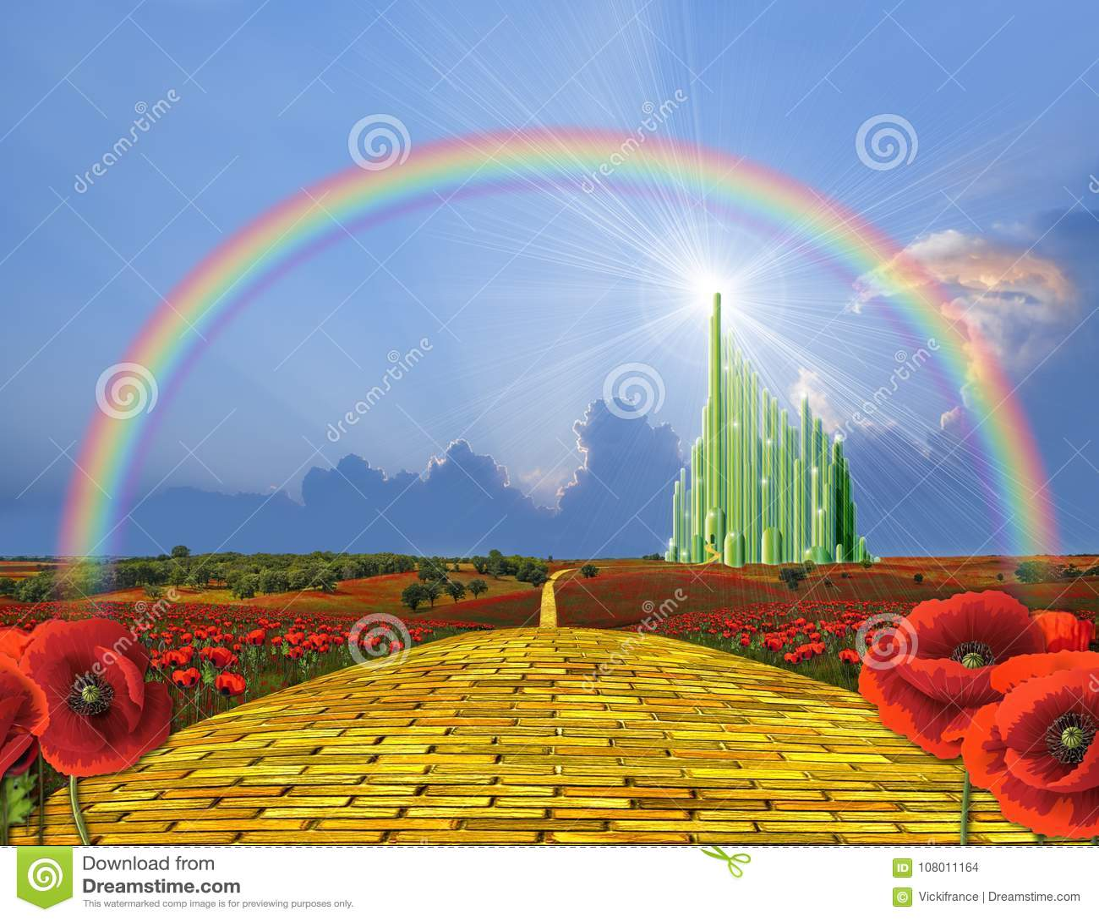 向Oz的黄色砖路