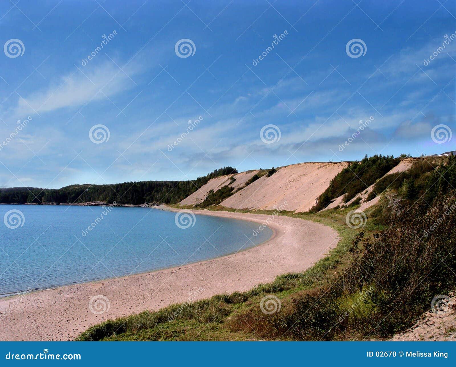 含沙海滩的小海湾