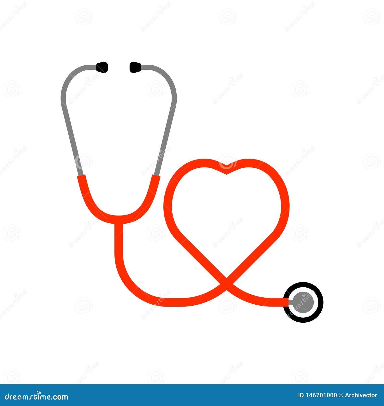 听诊器和心脏