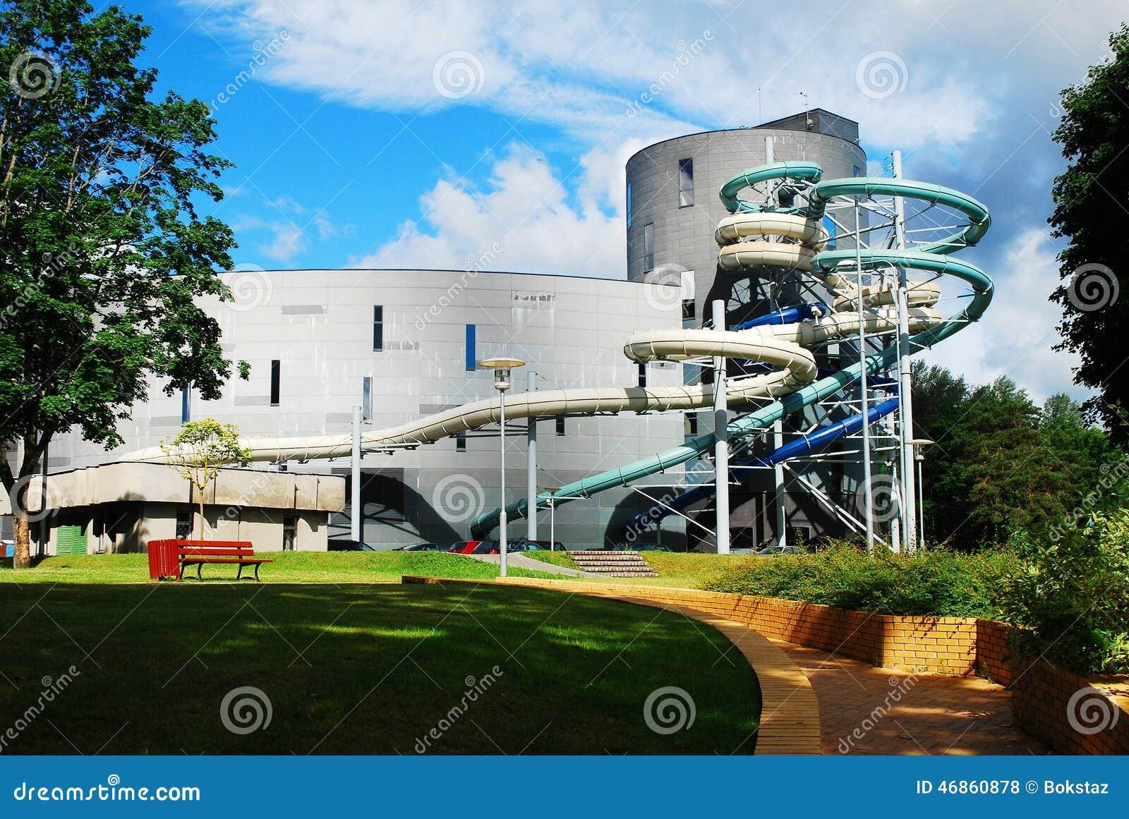 水吸引力公园在德鲁斯基宁凯温泉城市