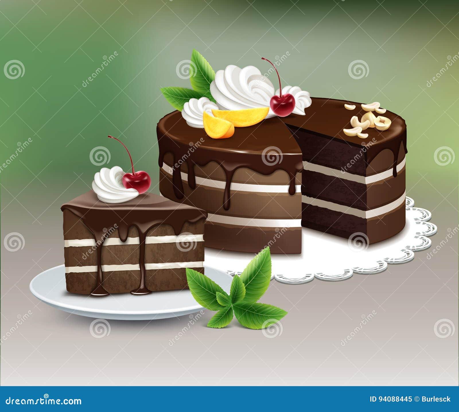 吹巧克力蛋糕
