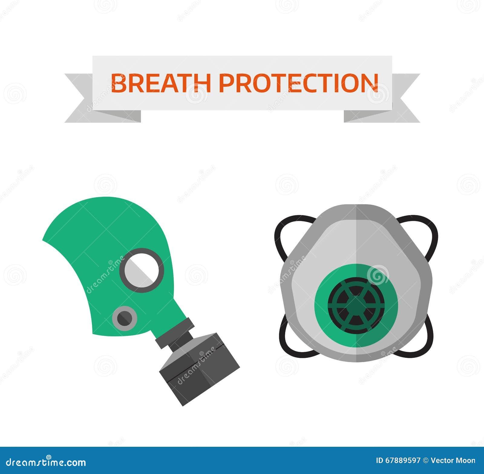呼吸道防护传染媒介例证