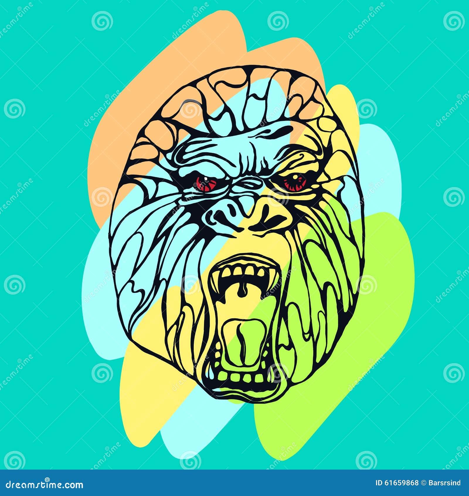 咆哮大猩猩纹身花刺