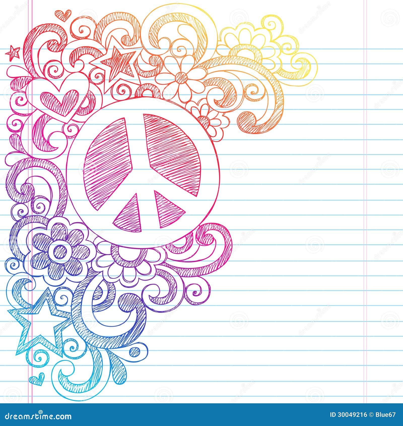 回到学校传染媒介的和平标志概略乱画我