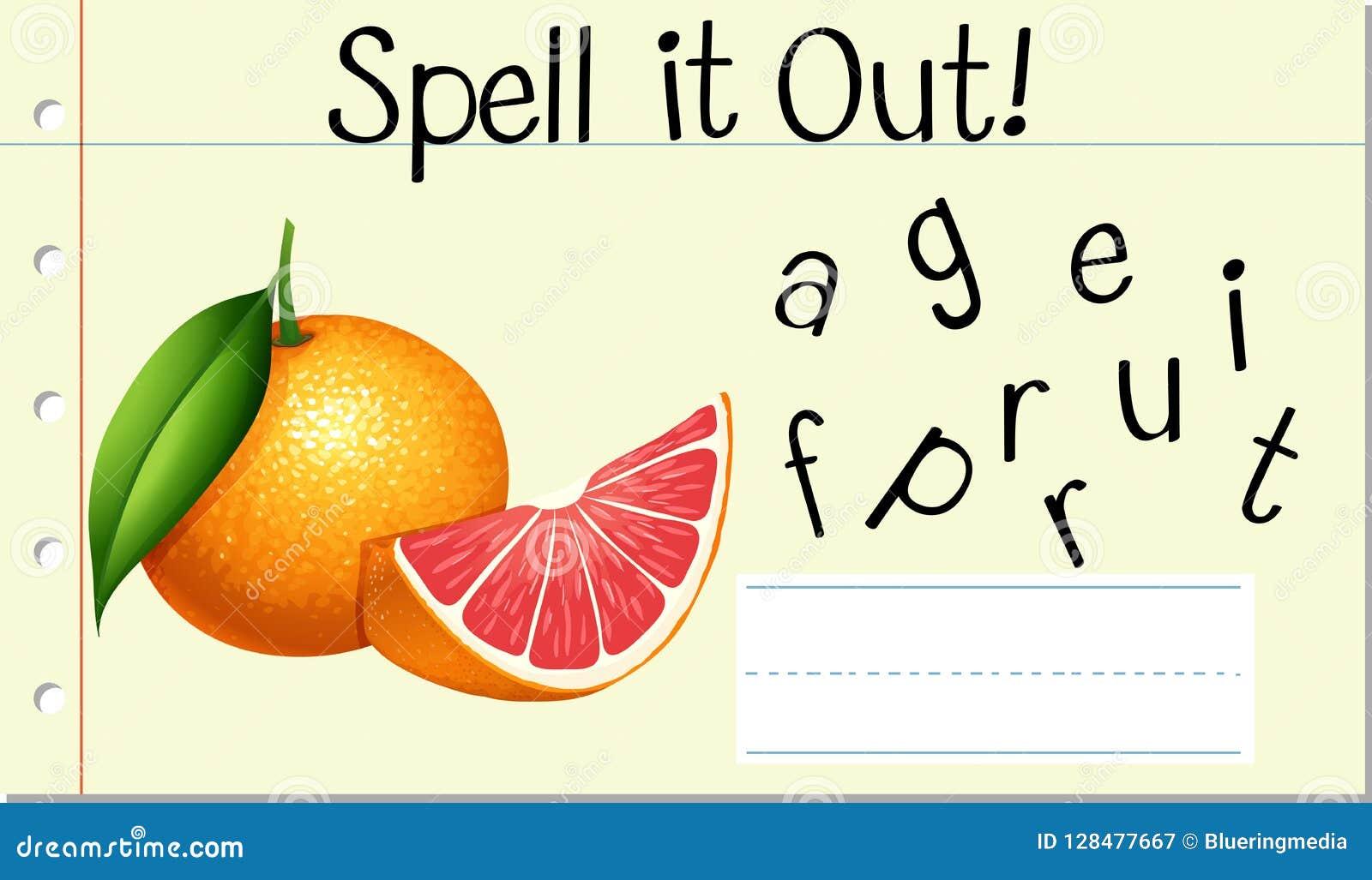 咒语英国词葡萄柚