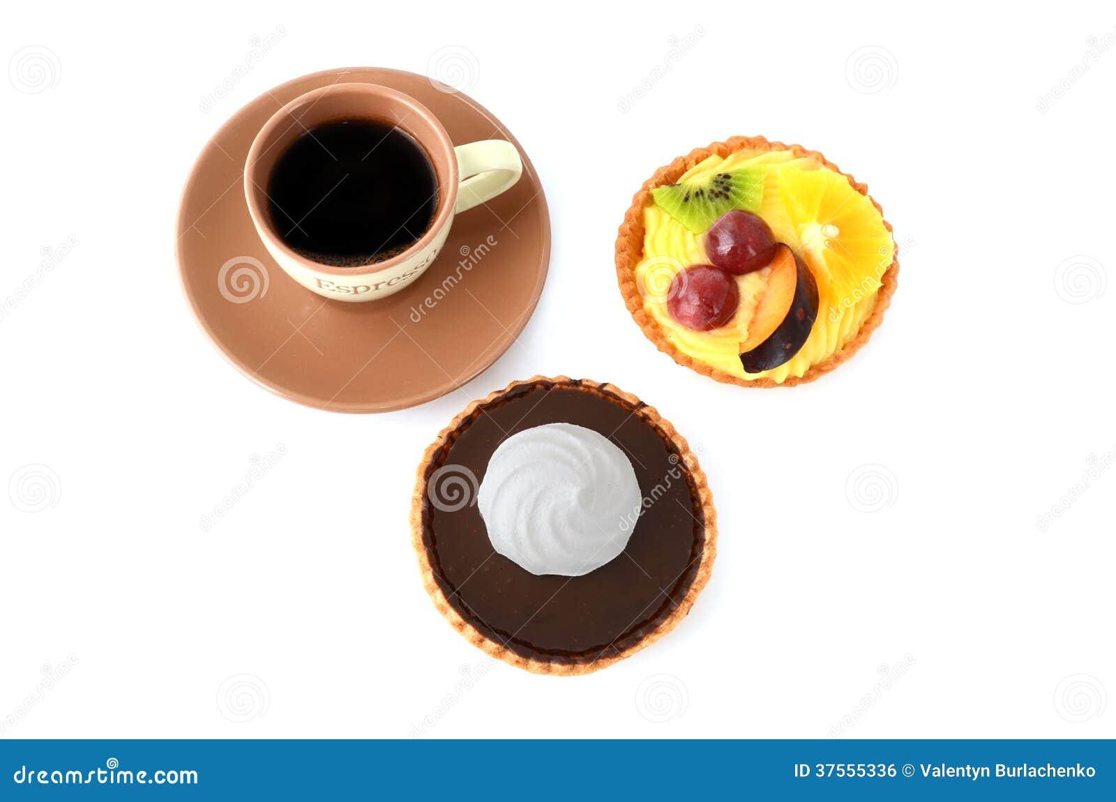 咖啡和蛋糕