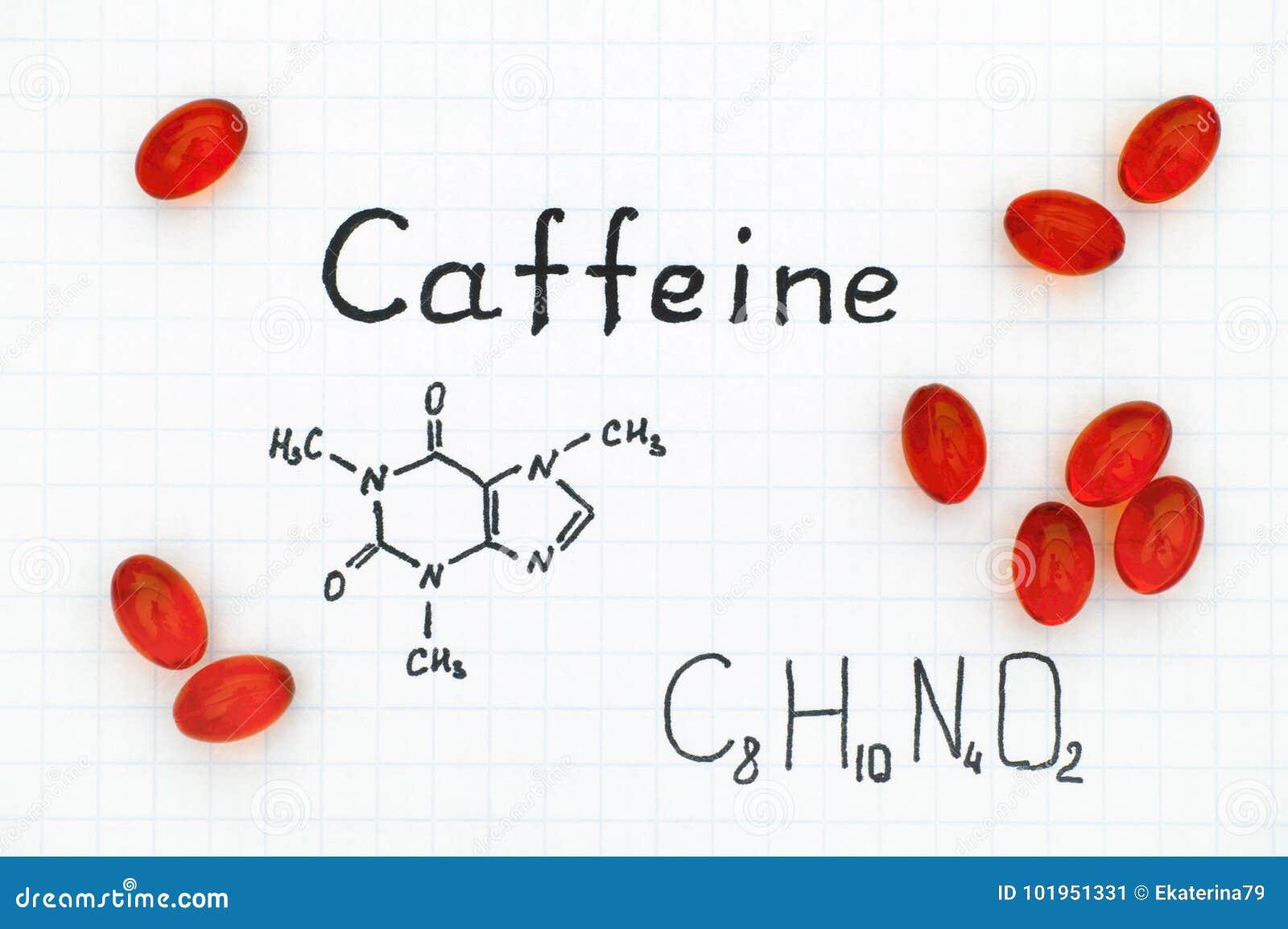 咖啡因化学式与红色药片的