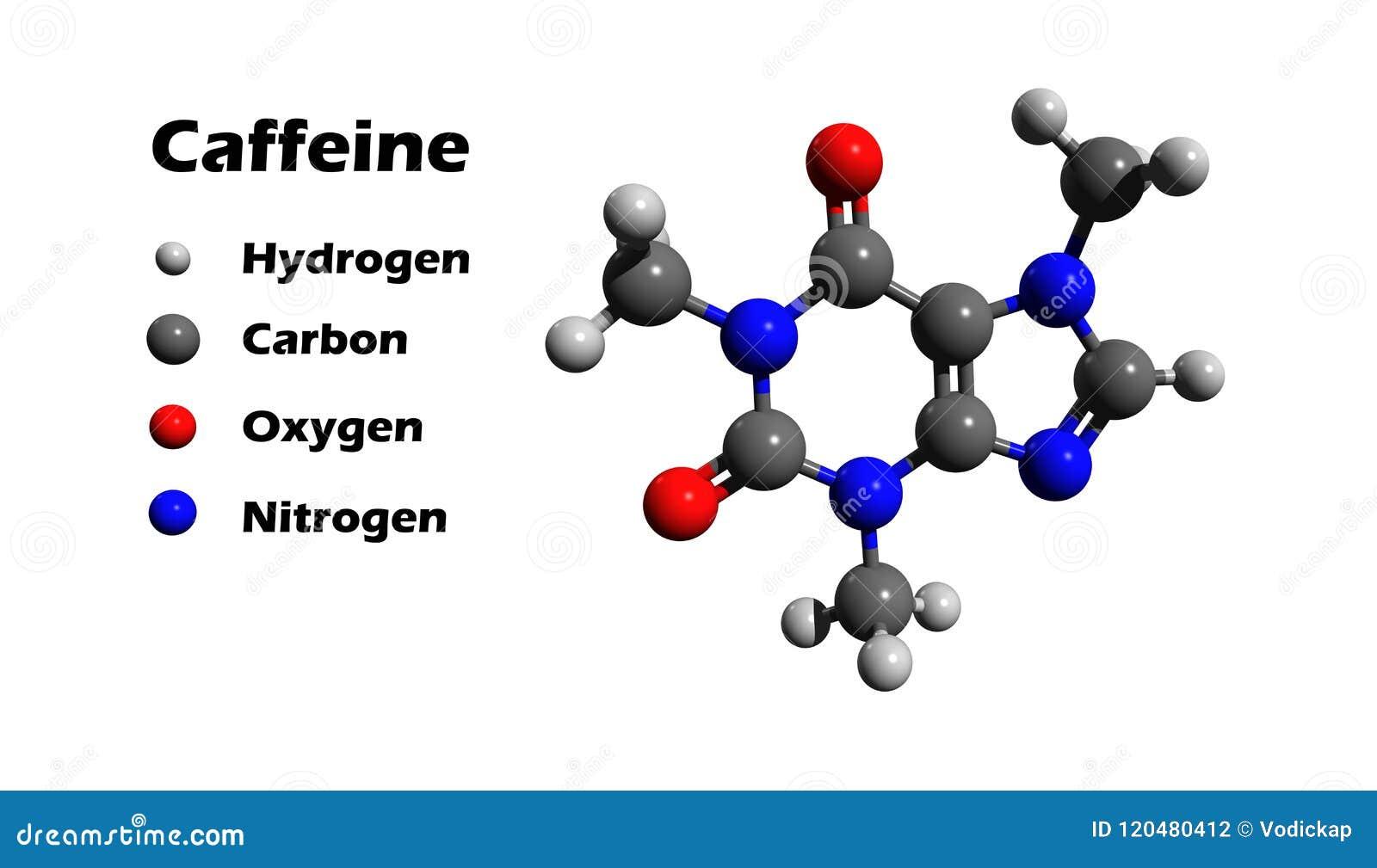 咖啡因3D化学式