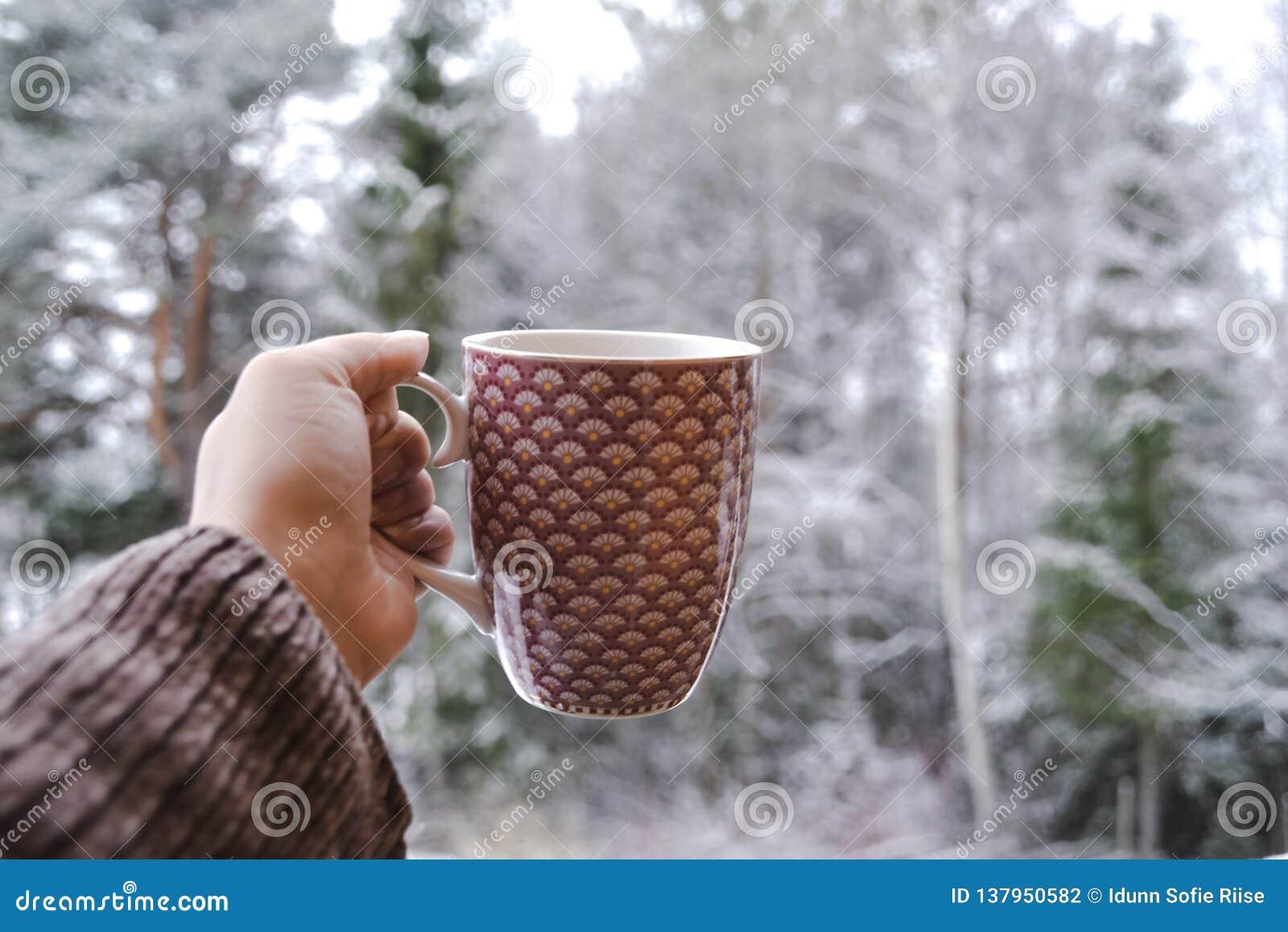 咖啡在冬天