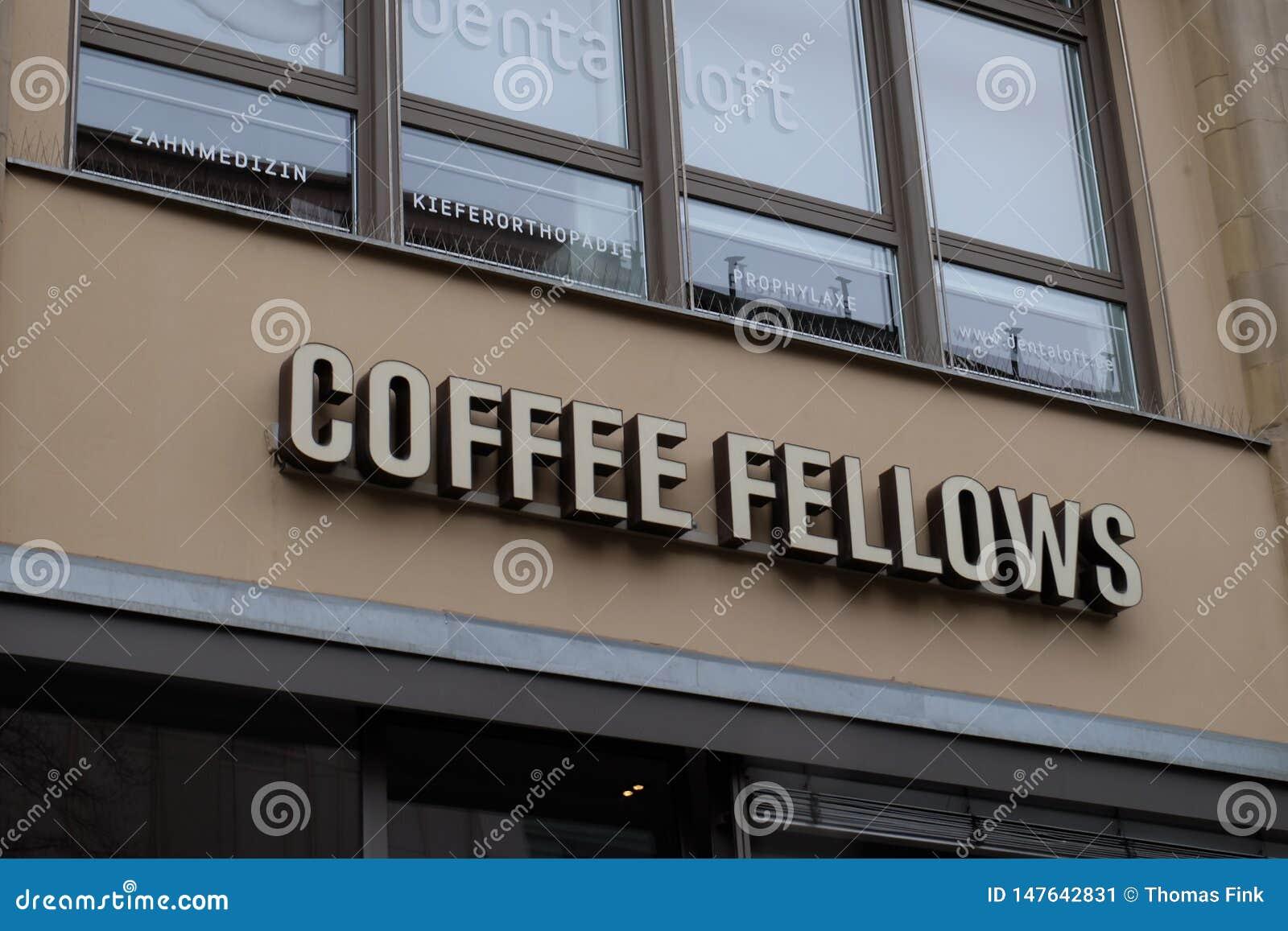 咖啡家伙在法兰克福购物商标