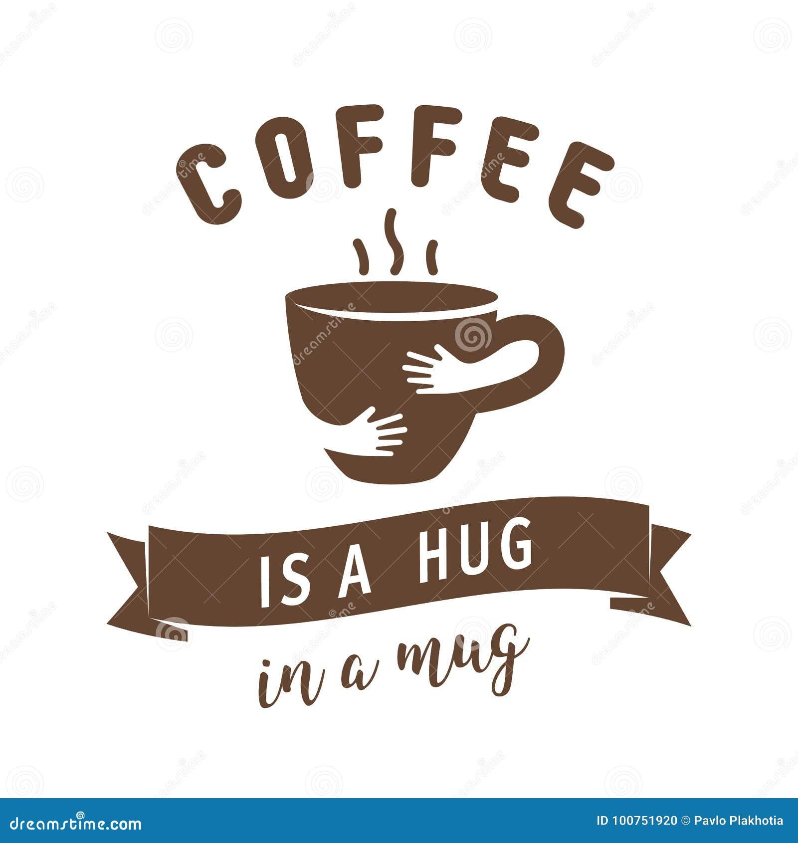 咖啡是在杯子例证的拥抱 与拥抱杯子的行情