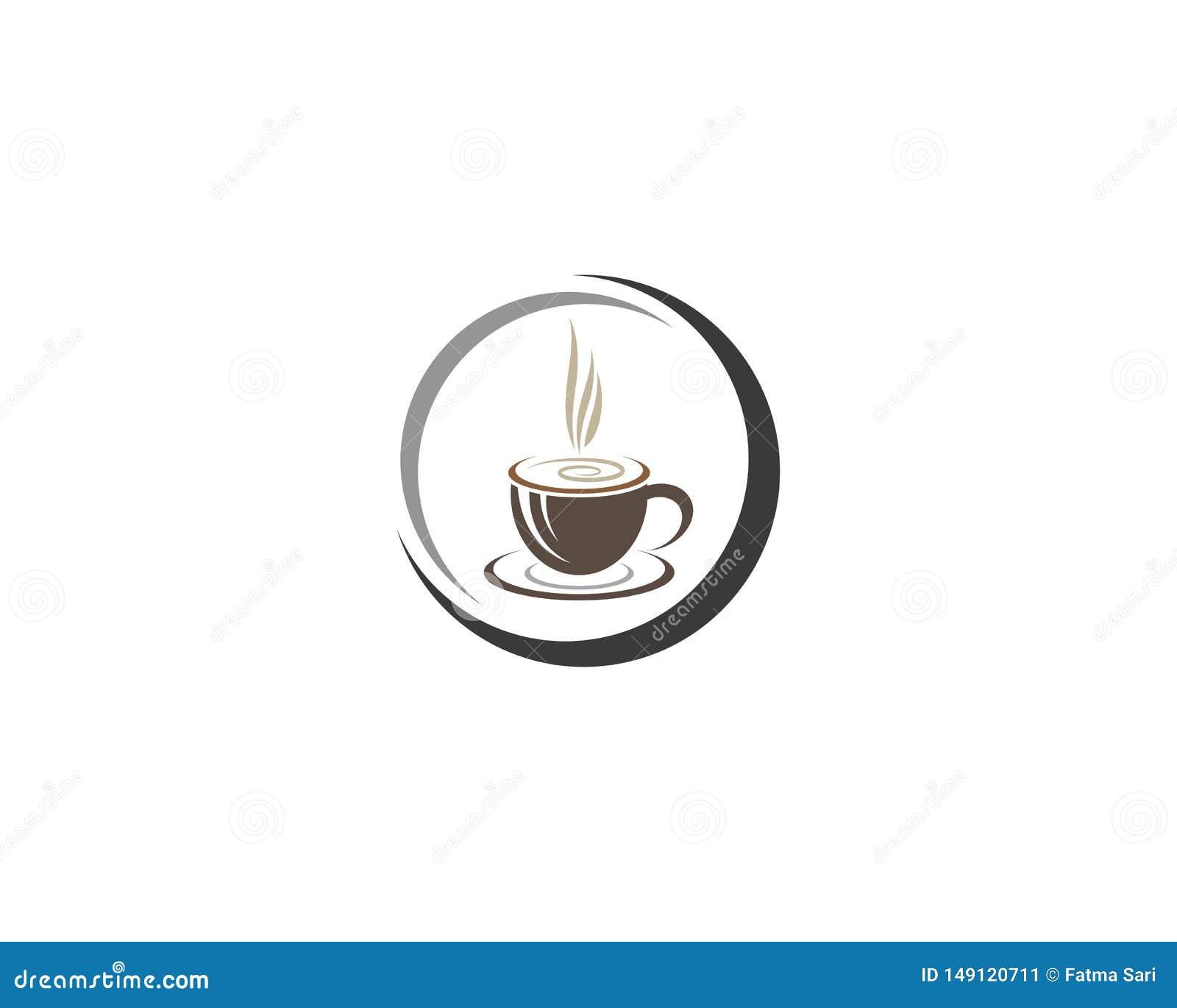 咖啡杯商标模板