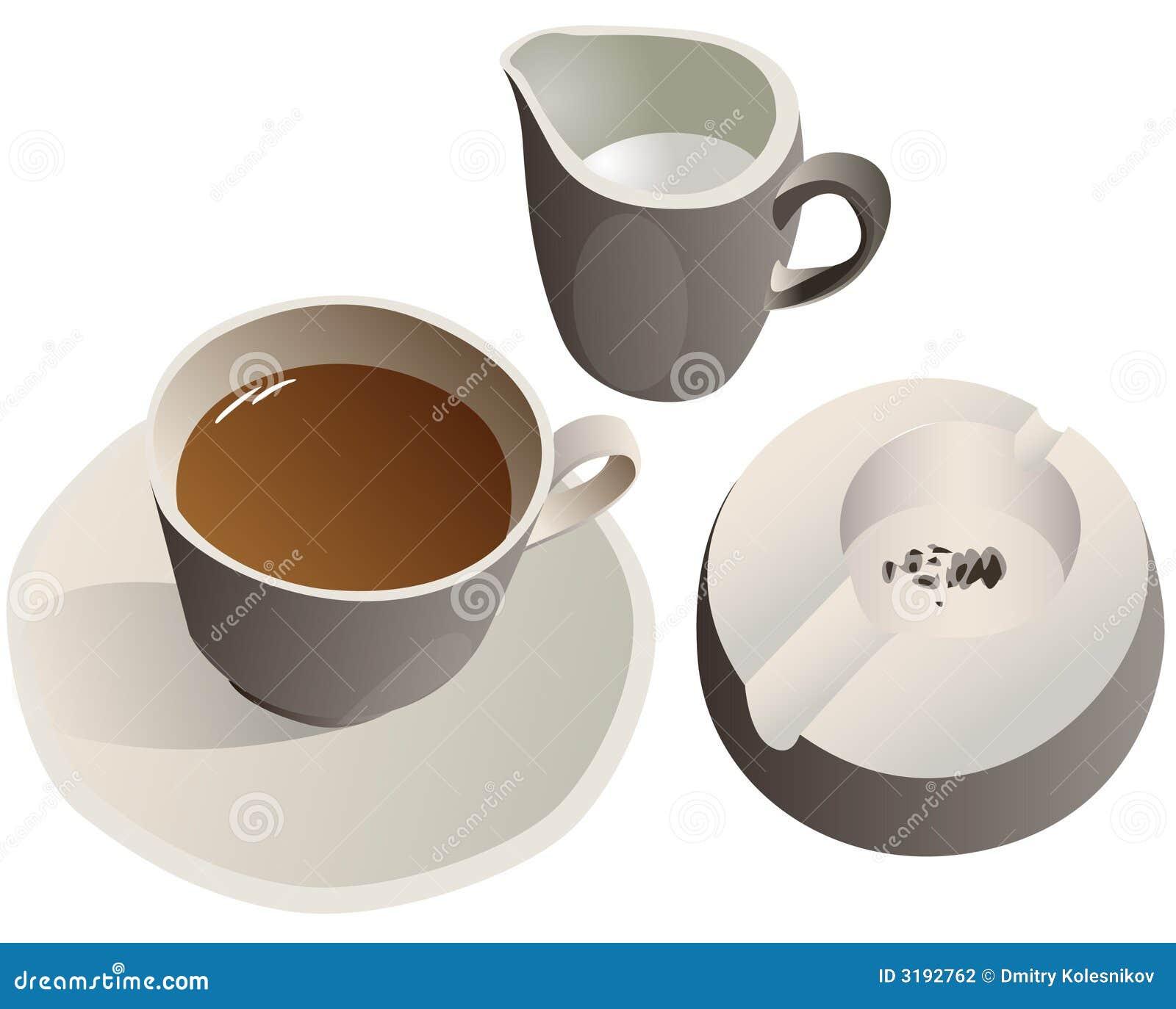 咖啡杯牛奶