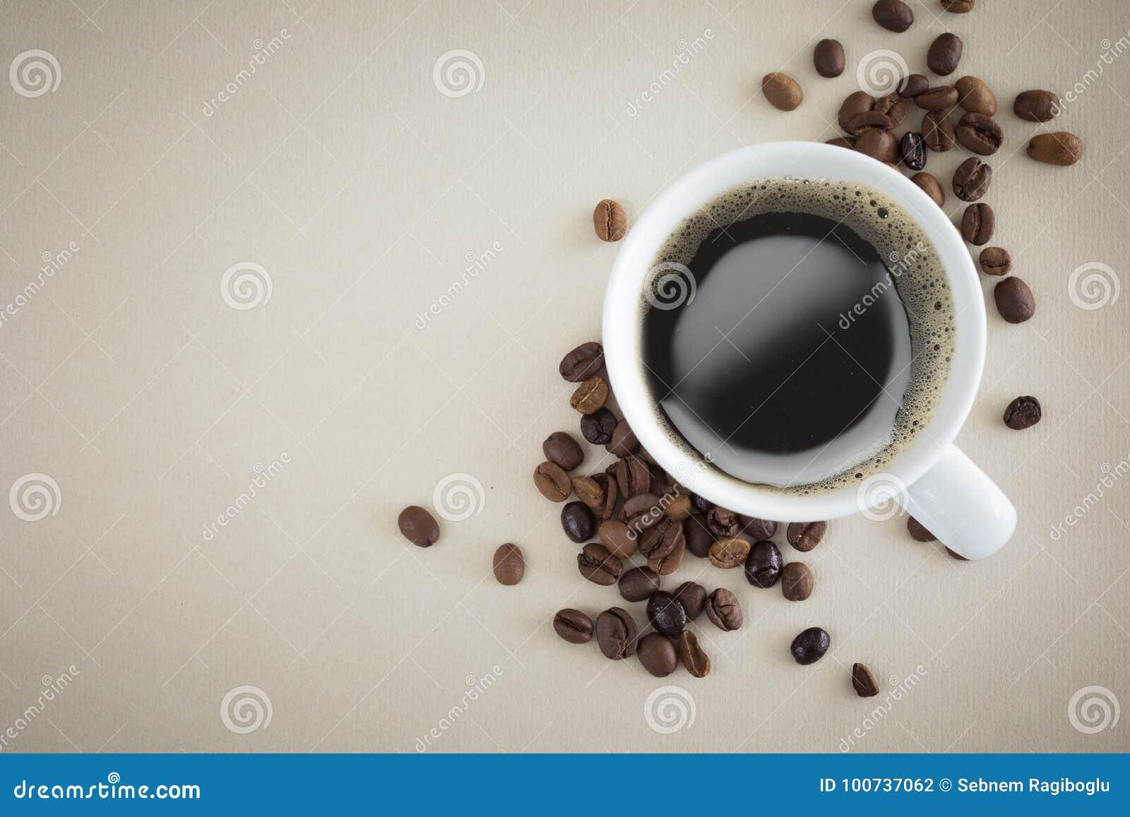 咖啡杯顶视图