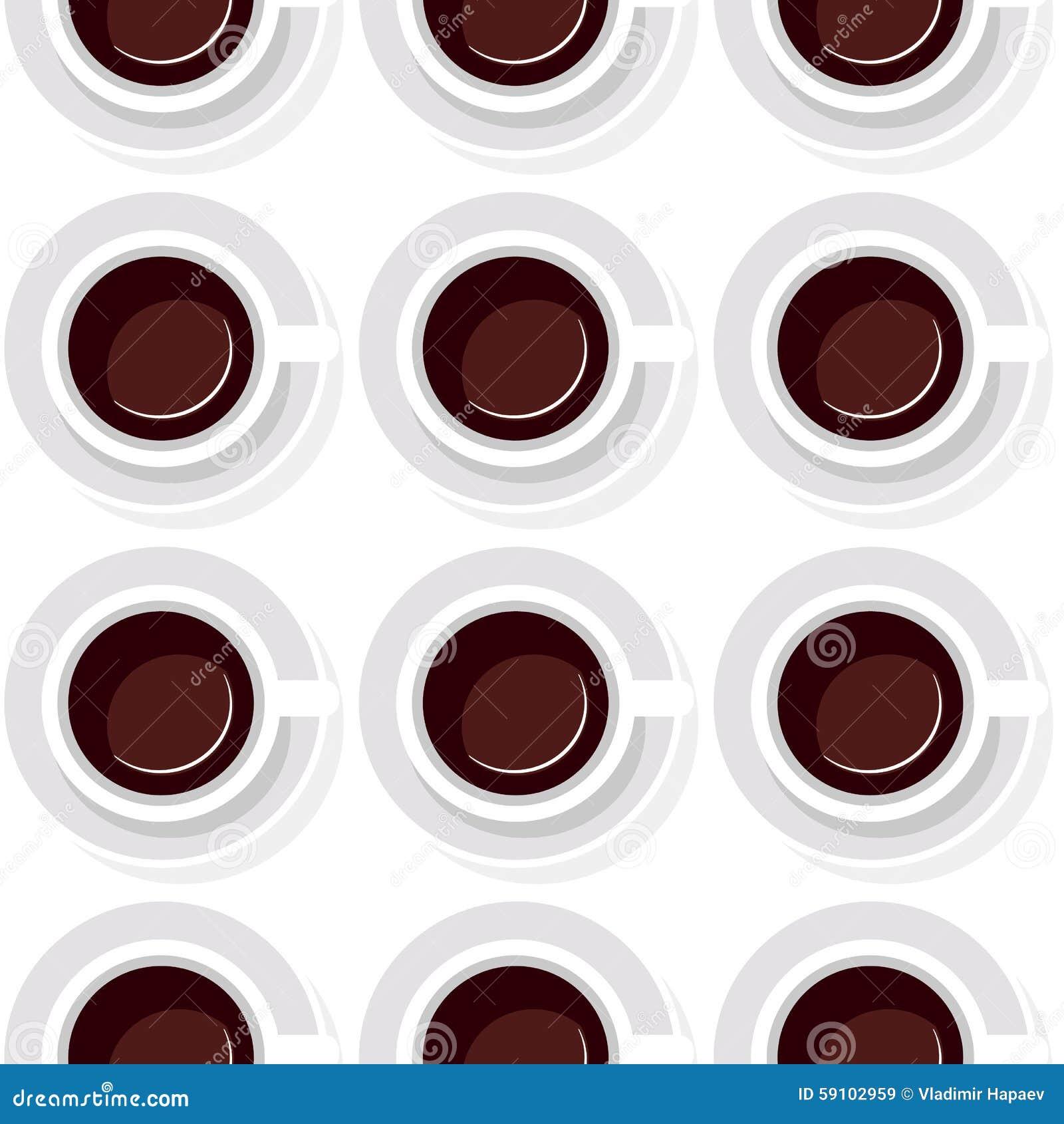 从咖啡的无缝的背景在舱内甲板的