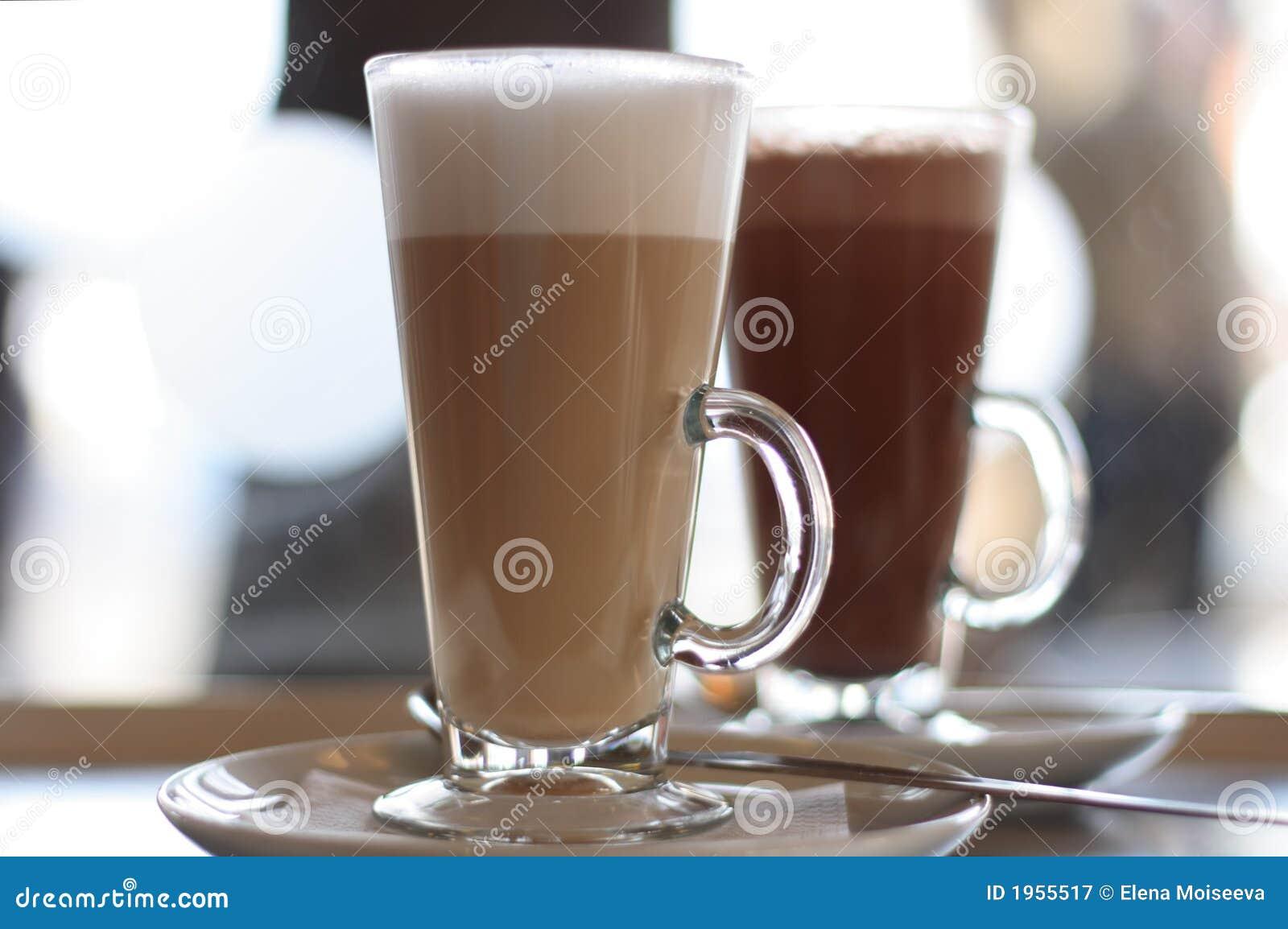 咖啡馆咖啡玻璃latte