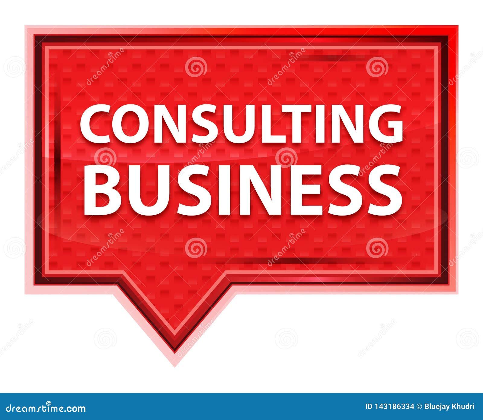 咨询的企业有薄雾的淡粉红色横幅按钮