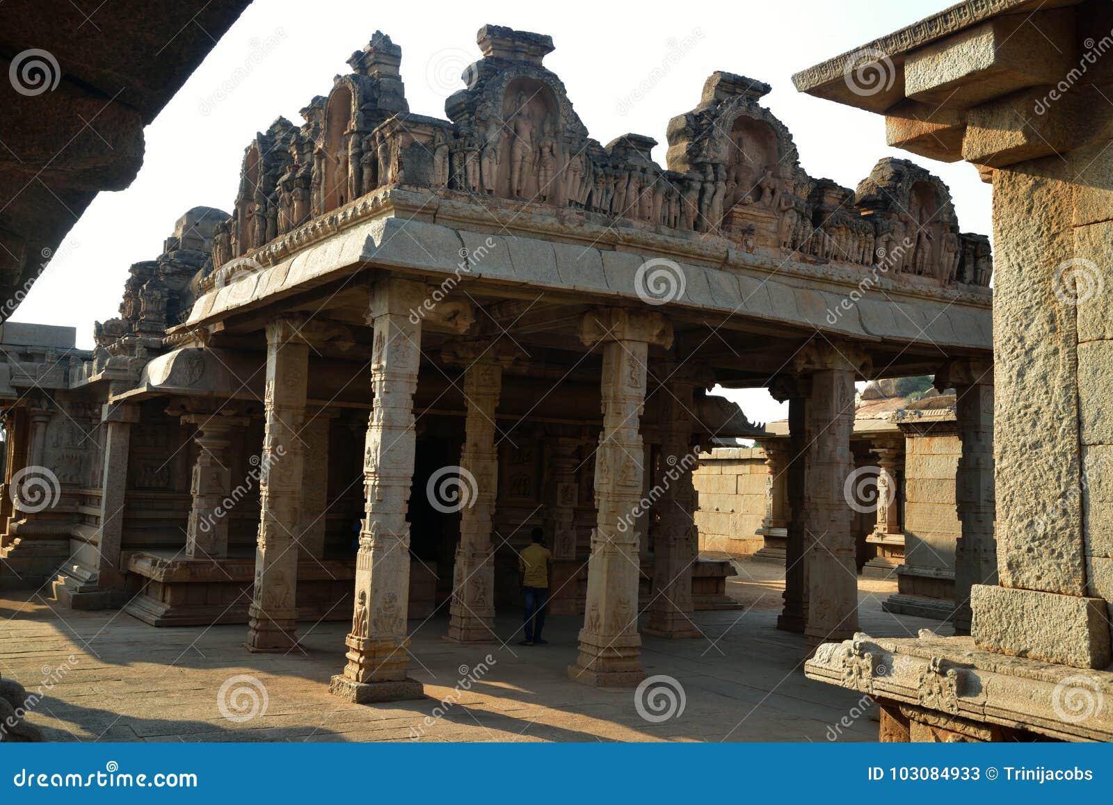 哈扎拉Rama寺庙,亨比,卡纳塔克邦,印度