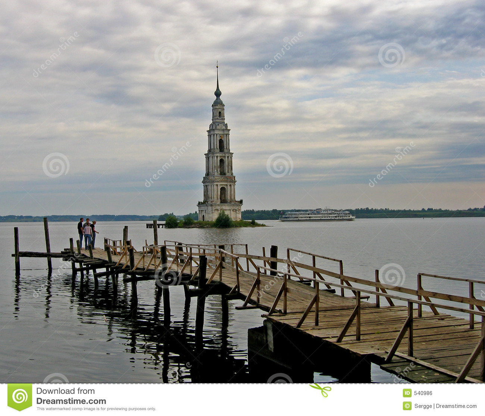 Download 响铃淹没了kalyasin俄国塔 库存照片. 图片 包括有 云彩, 淹没, 人们, 伏尔加河, 俄国, 响铃 - 540986