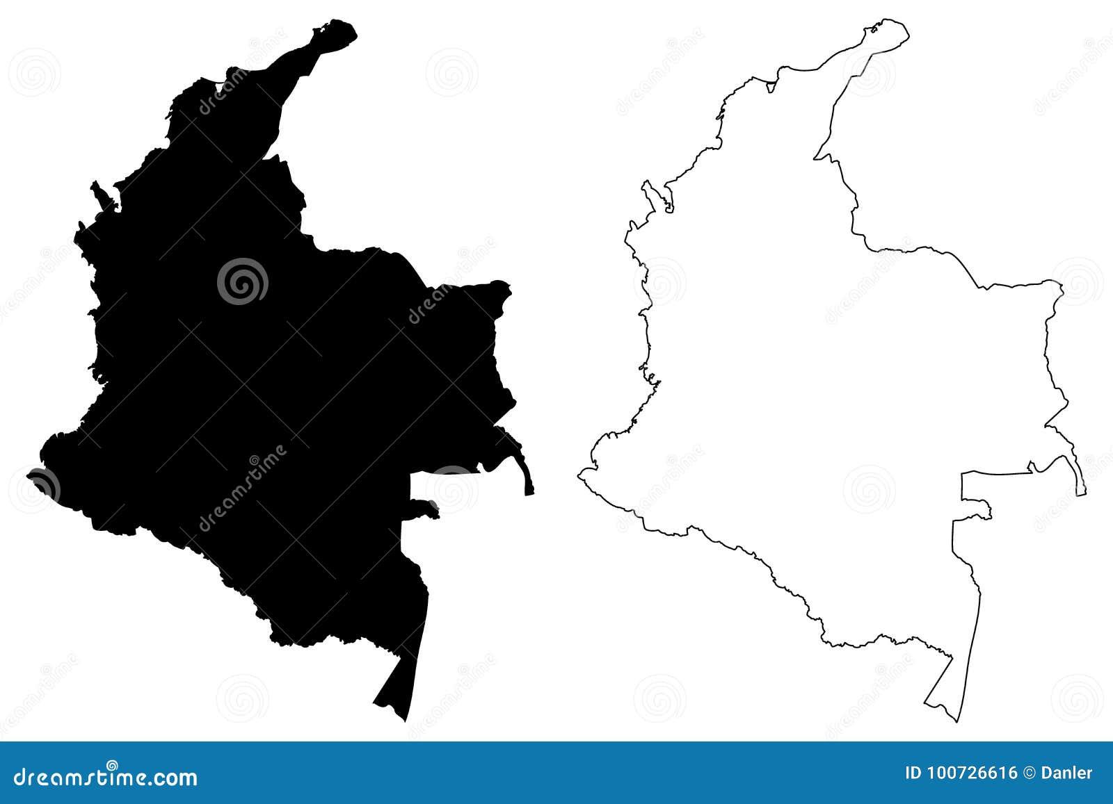 哥伦比亚地图传染媒介