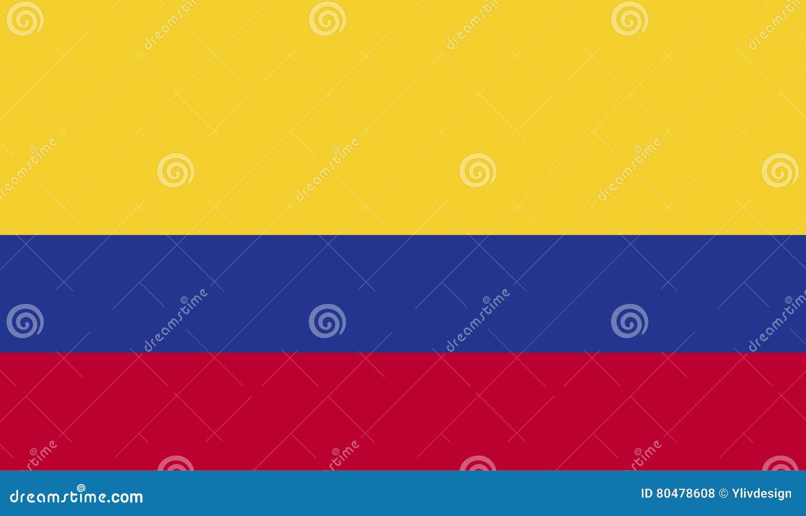 哥伦比亚旗子图象