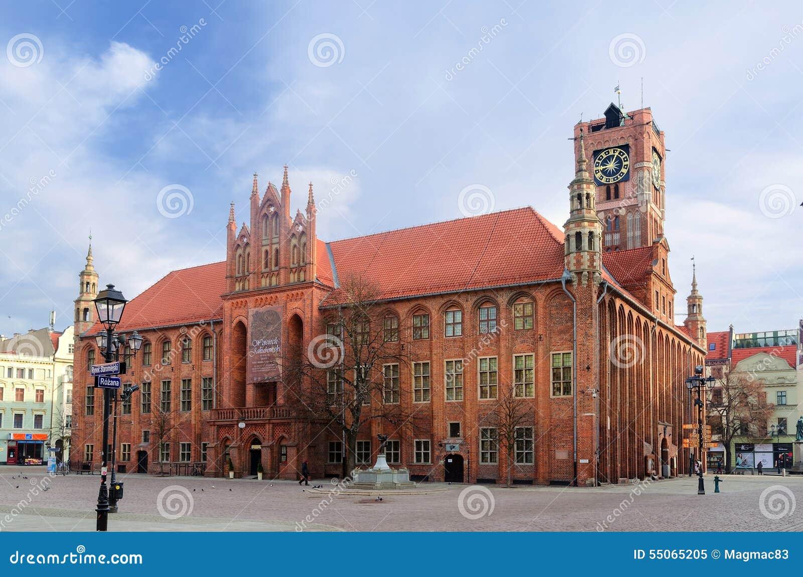 哥特式城镇厅 老镇在托伦,波兰