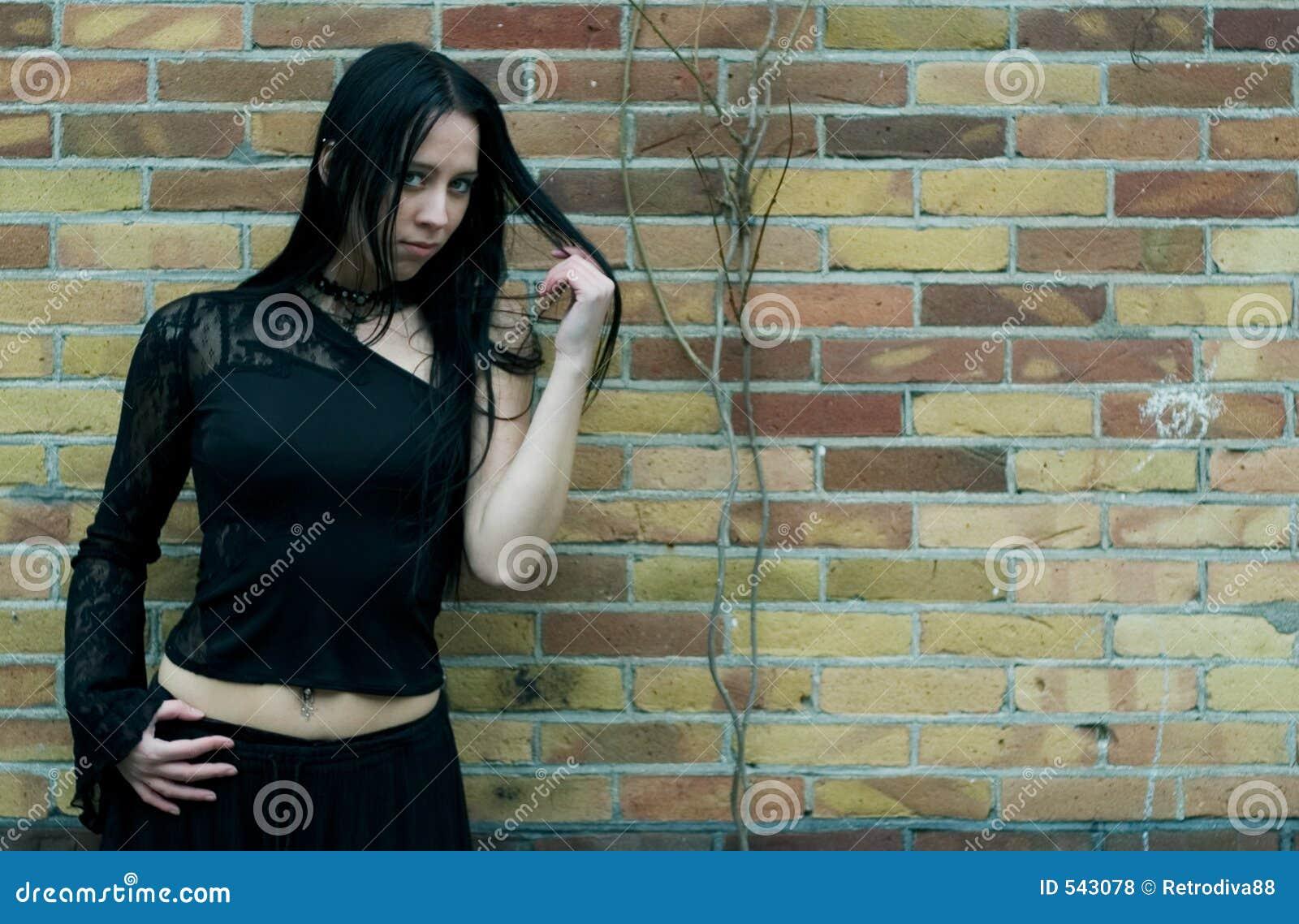 Download 哥特式的秀丽 库存照片. 图片 包括有 长期, 蓝色, 头发, 方式, 秋天, goth, grunge, beauvoir - 543078