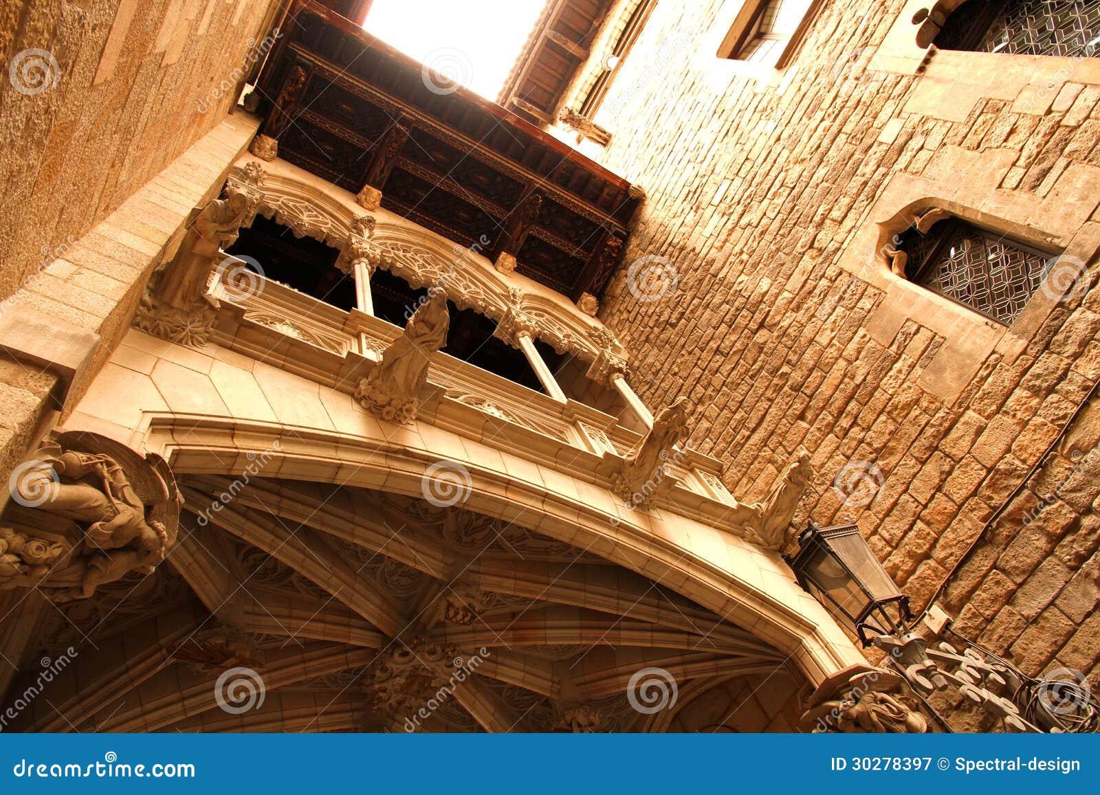 哥特式建筑在巴塞罗那