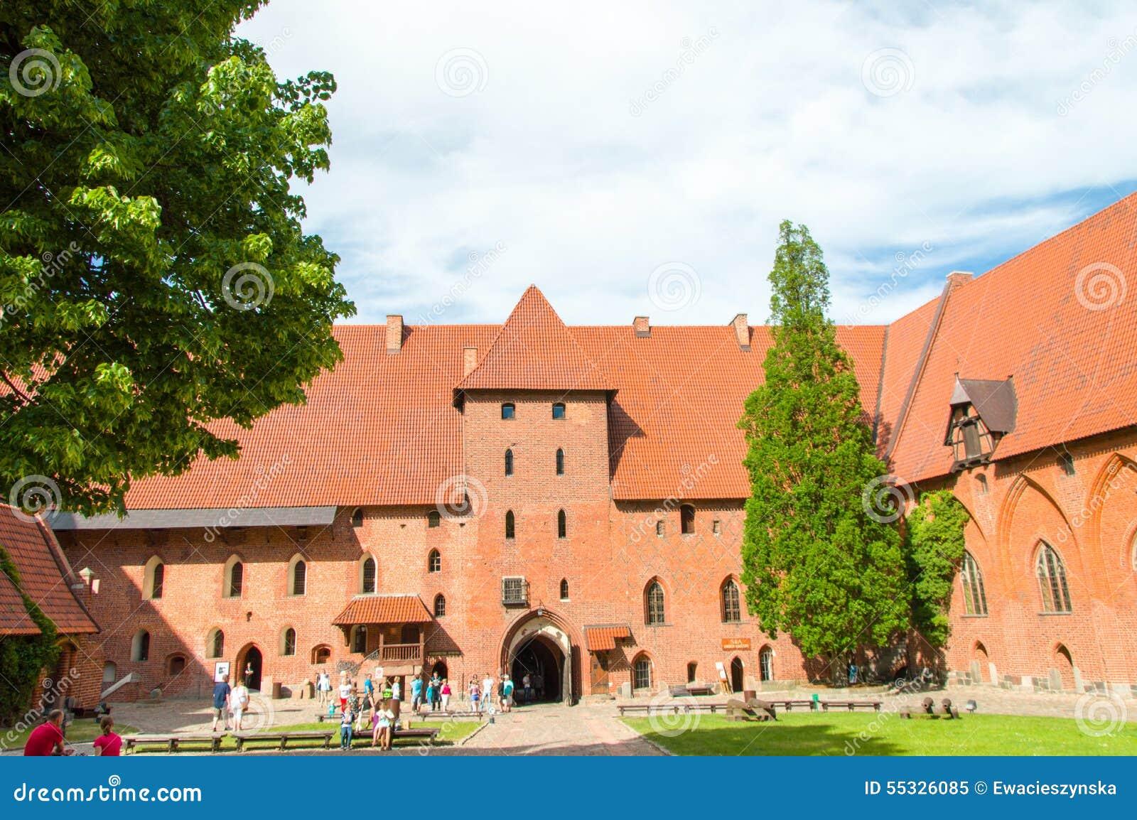 哥特式Toutenic城堡在马尔堡,波兰