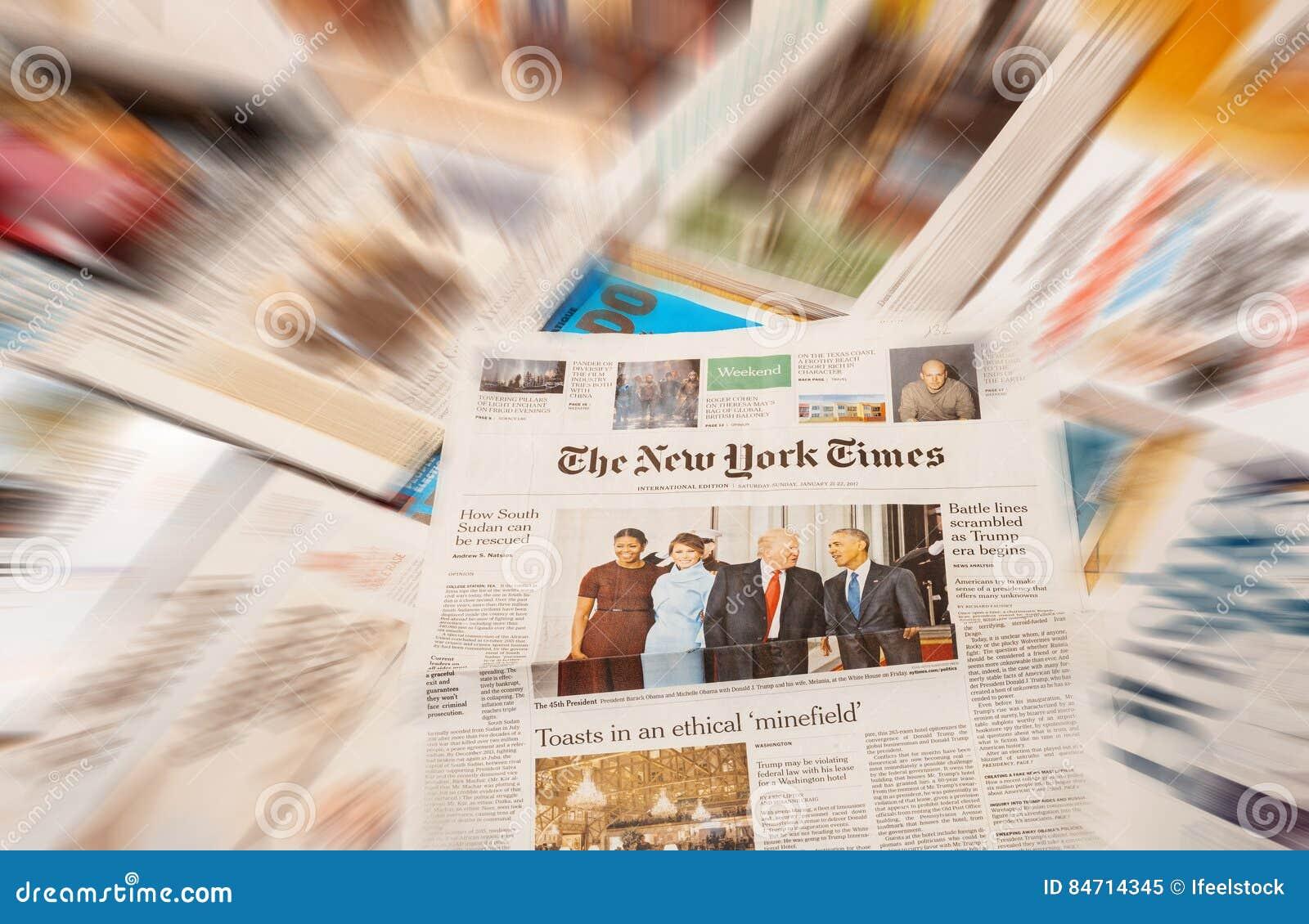 唐纳德・川普就职典礼纽约时报