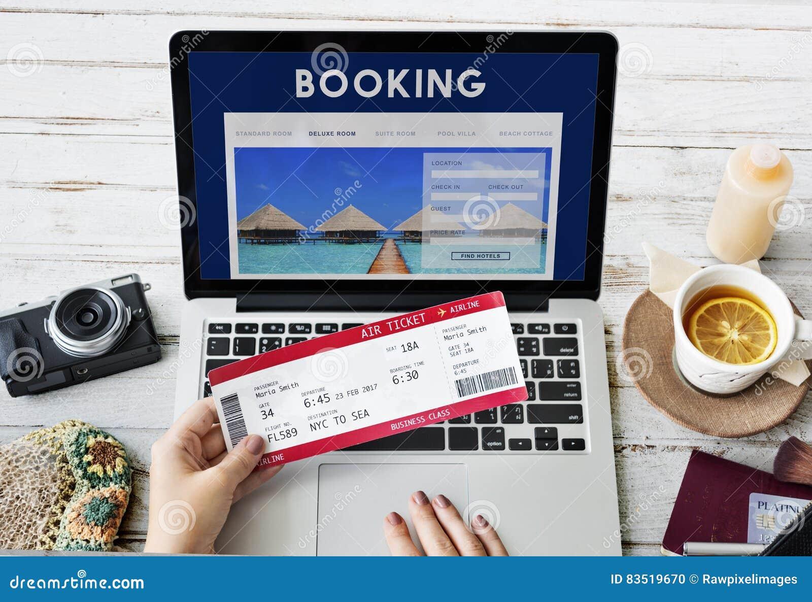 售票旅馆预订旅行目的地概念