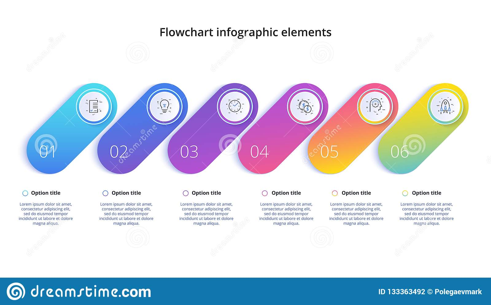 商业运作与4步段的图infographics Circul