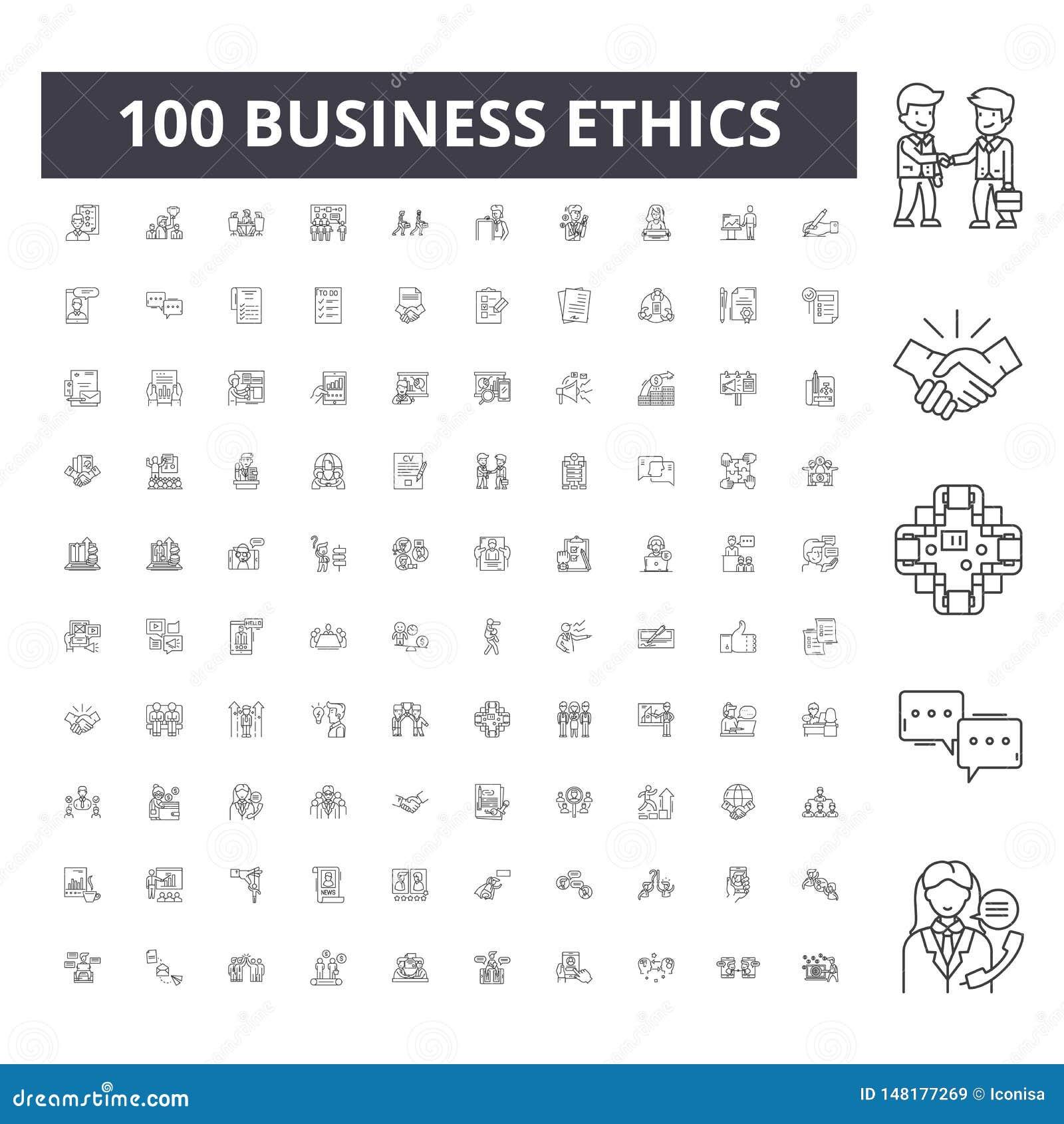 商业道德排行象,标志,传染媒介集合,概述例证概念
