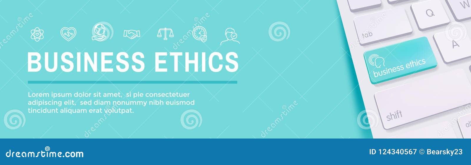 商业道德网横幅象设置与诚实,正直, Com