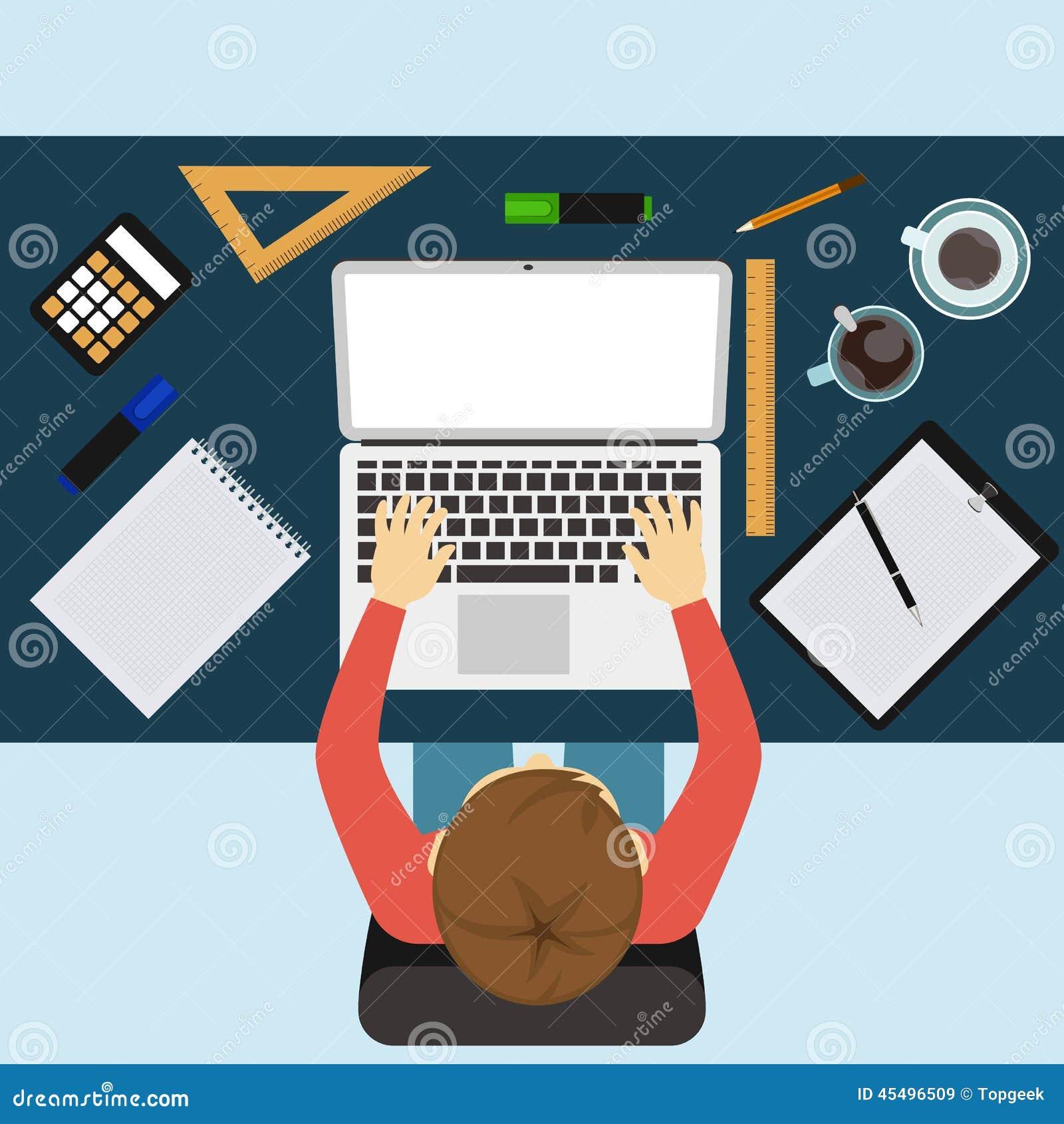 商人与膝上型计算机和文件一起使用