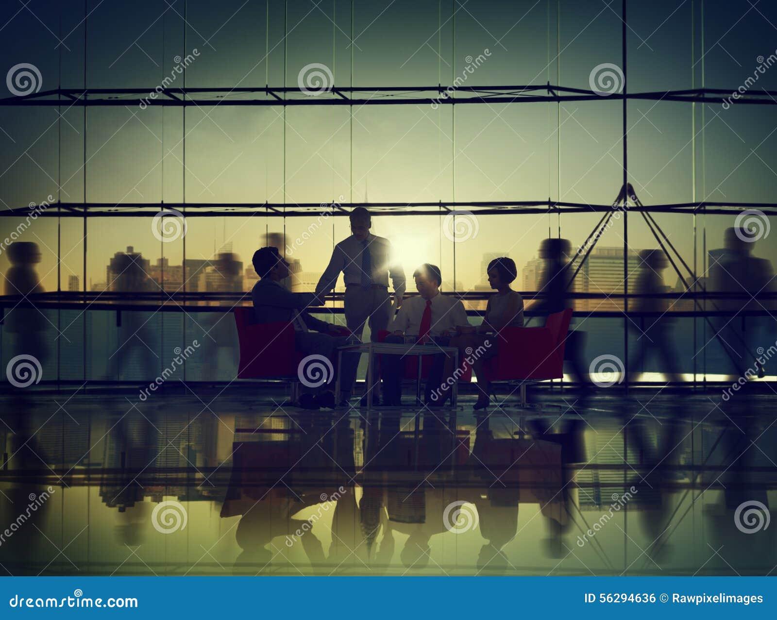 商人合作会议通信办公室概念