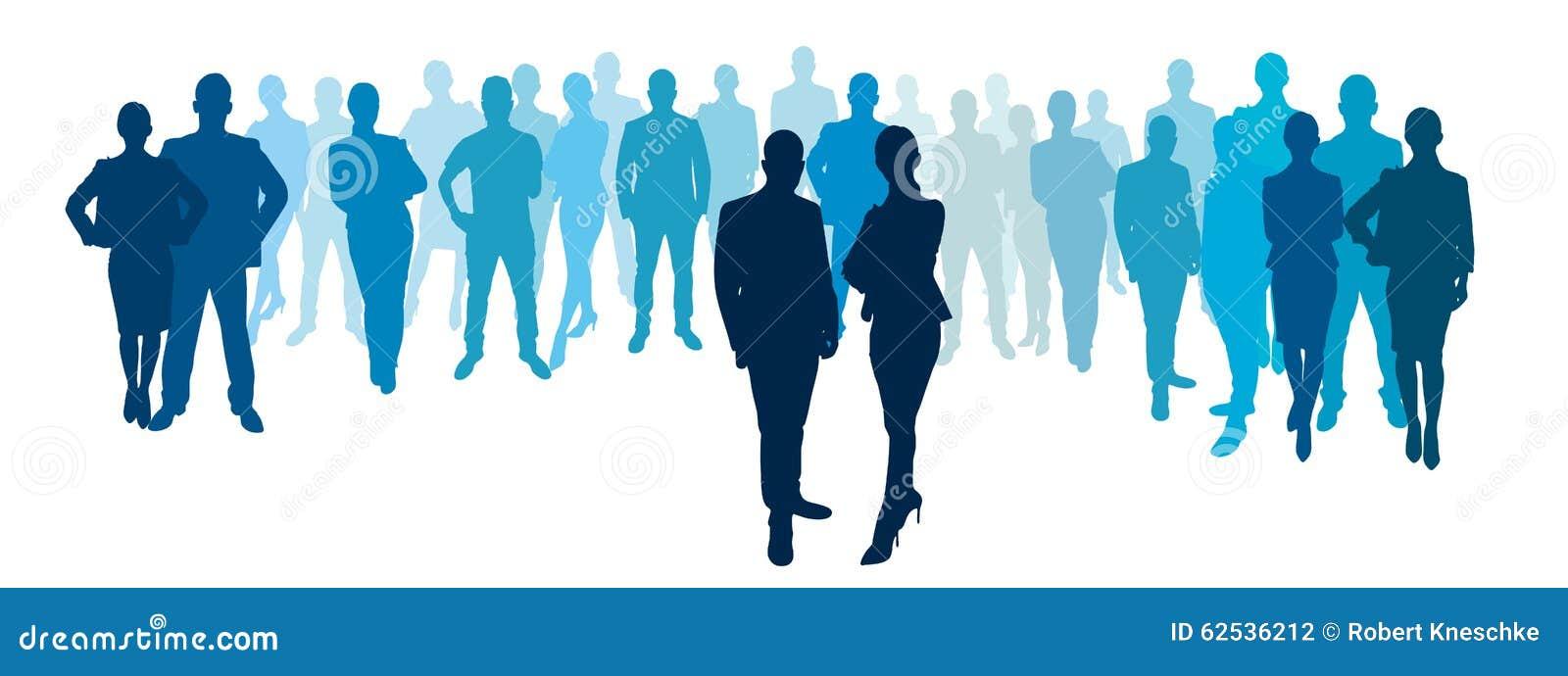 商人和女实业家有企业队的