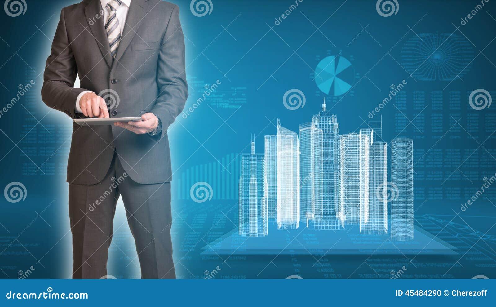 商人和导线框架大厦
