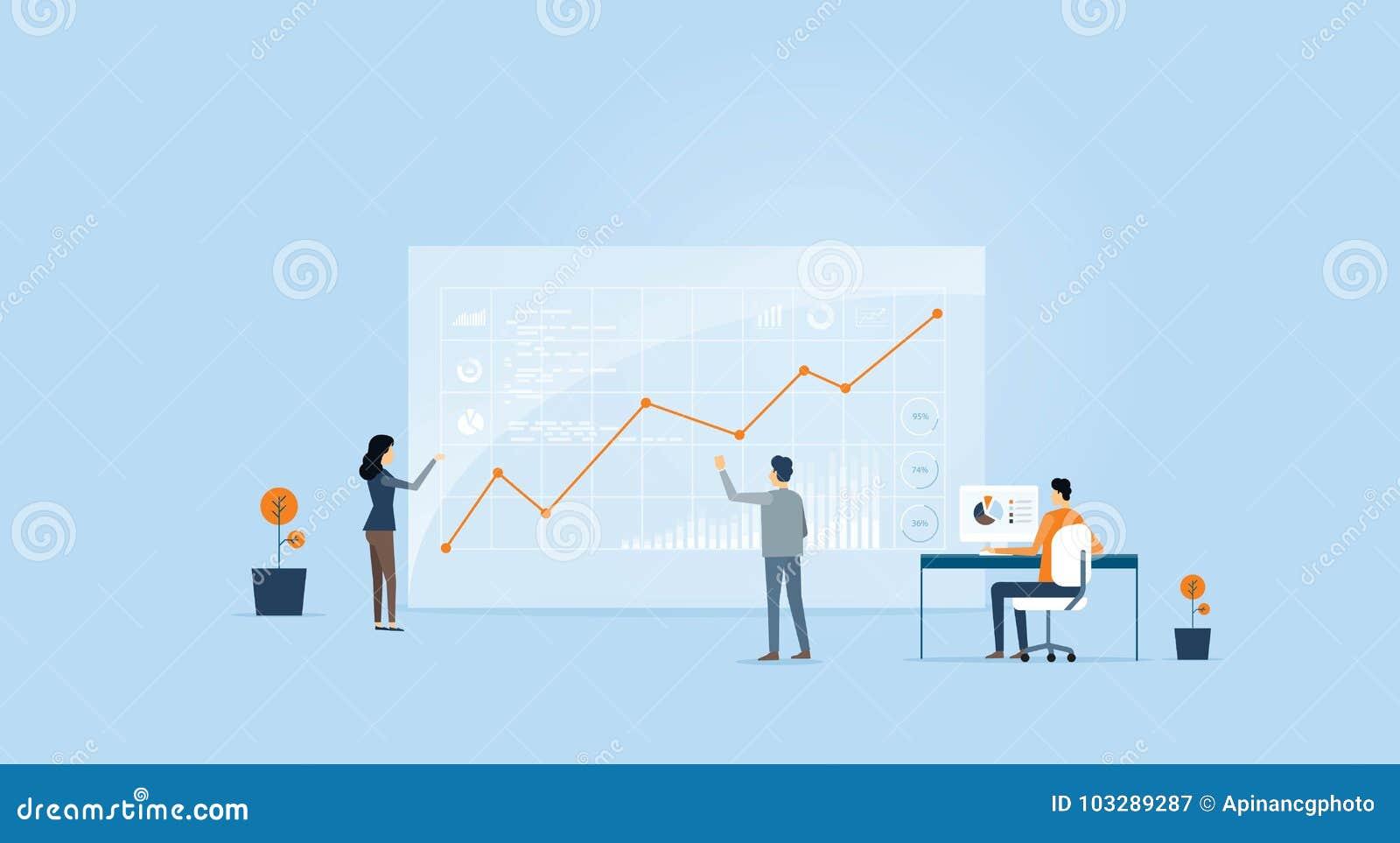 商人在显示器的逻辑分析方法图表