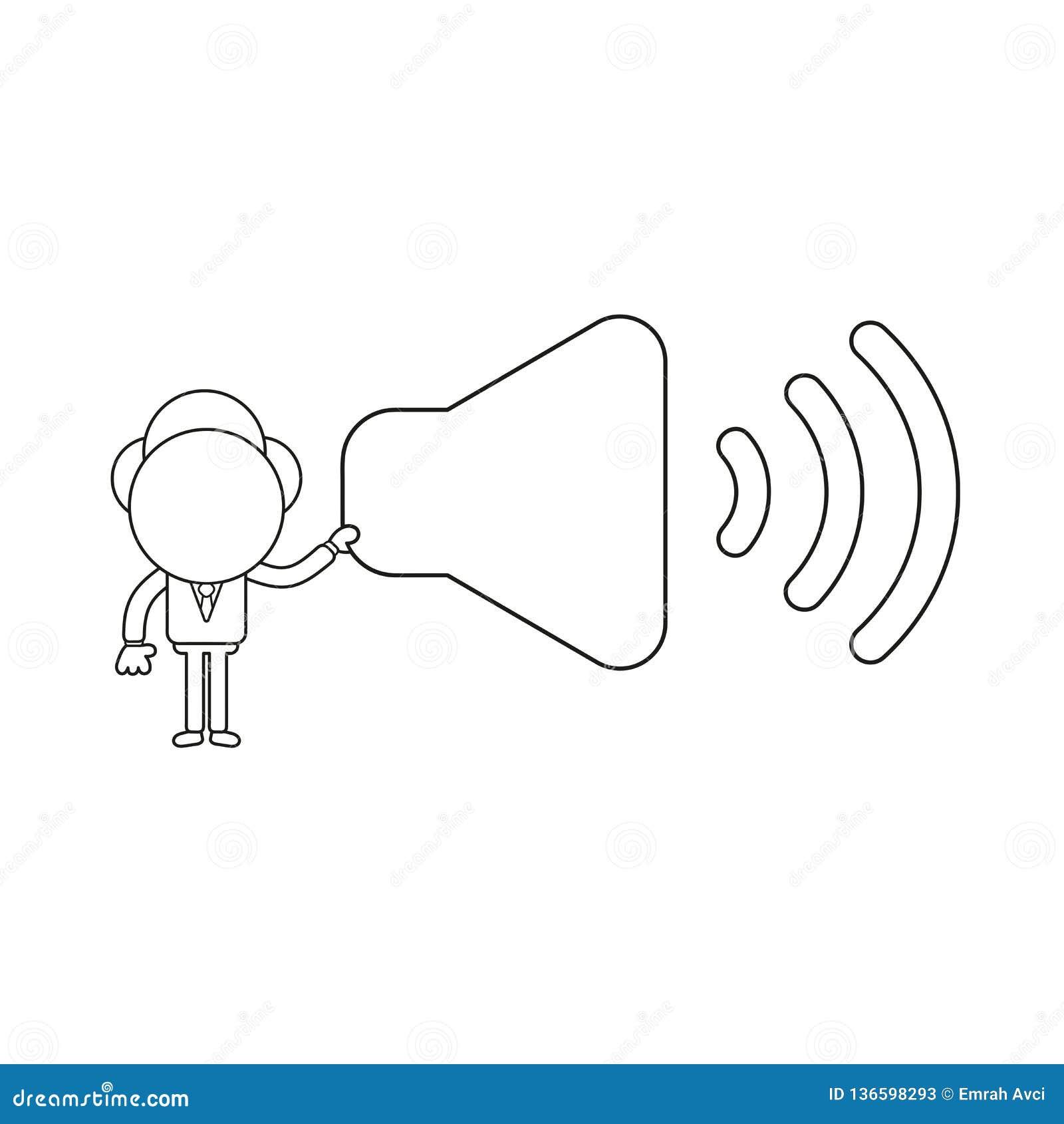 商人字符在标志的藏品声音的传染媒介例证 黑概述