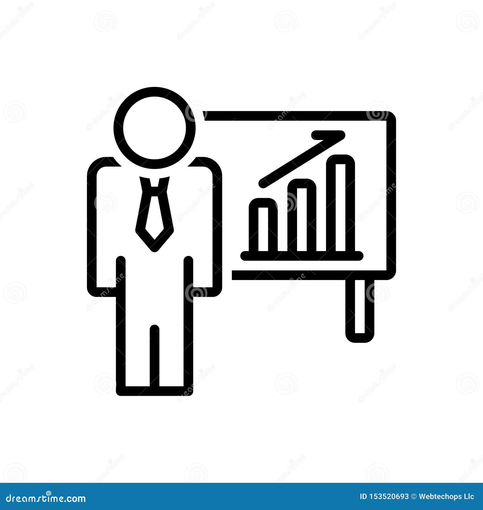 商人的黑线象在登高,事务和酒吧图表