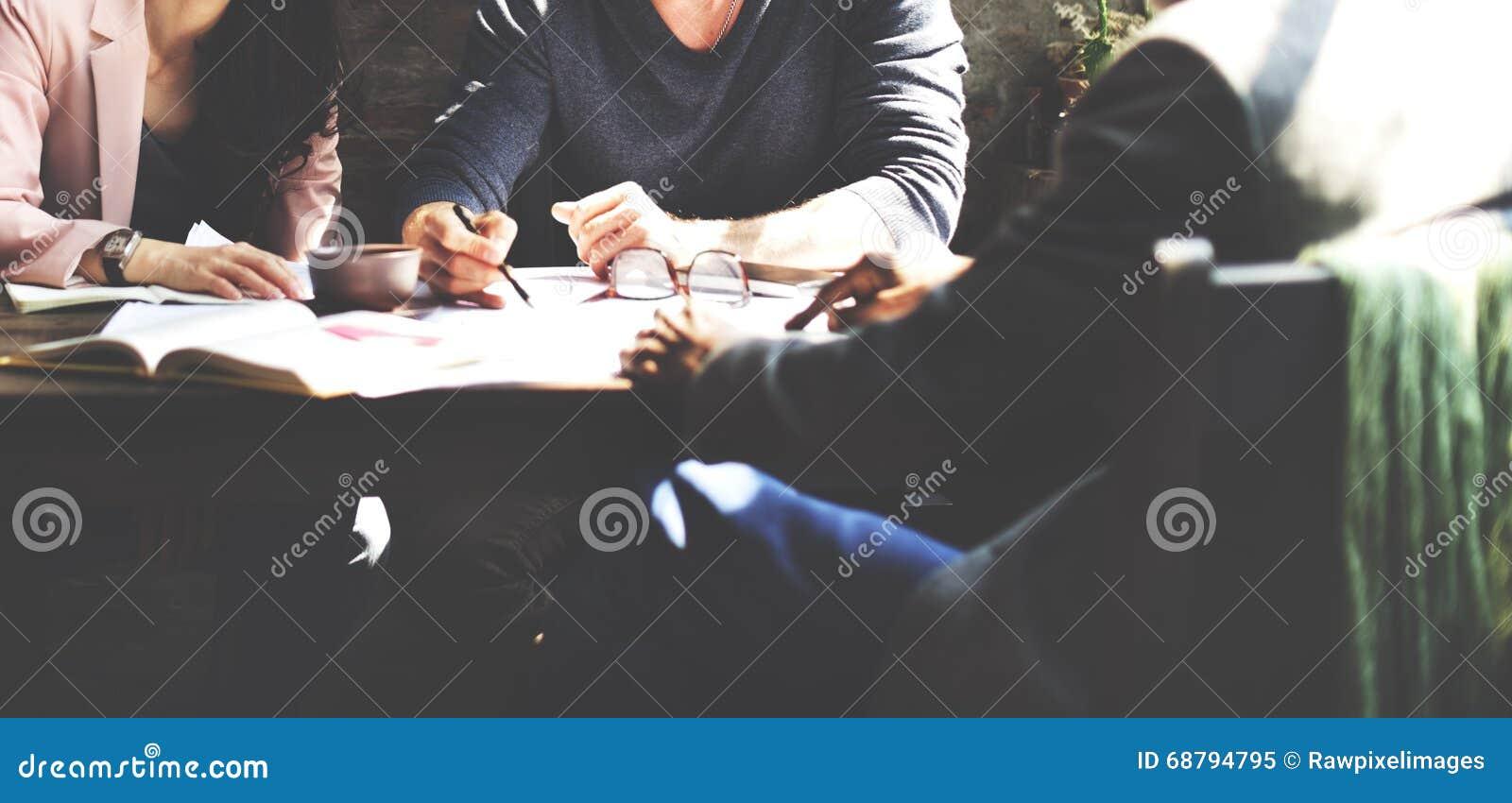 商人配合计划办公室战略概念